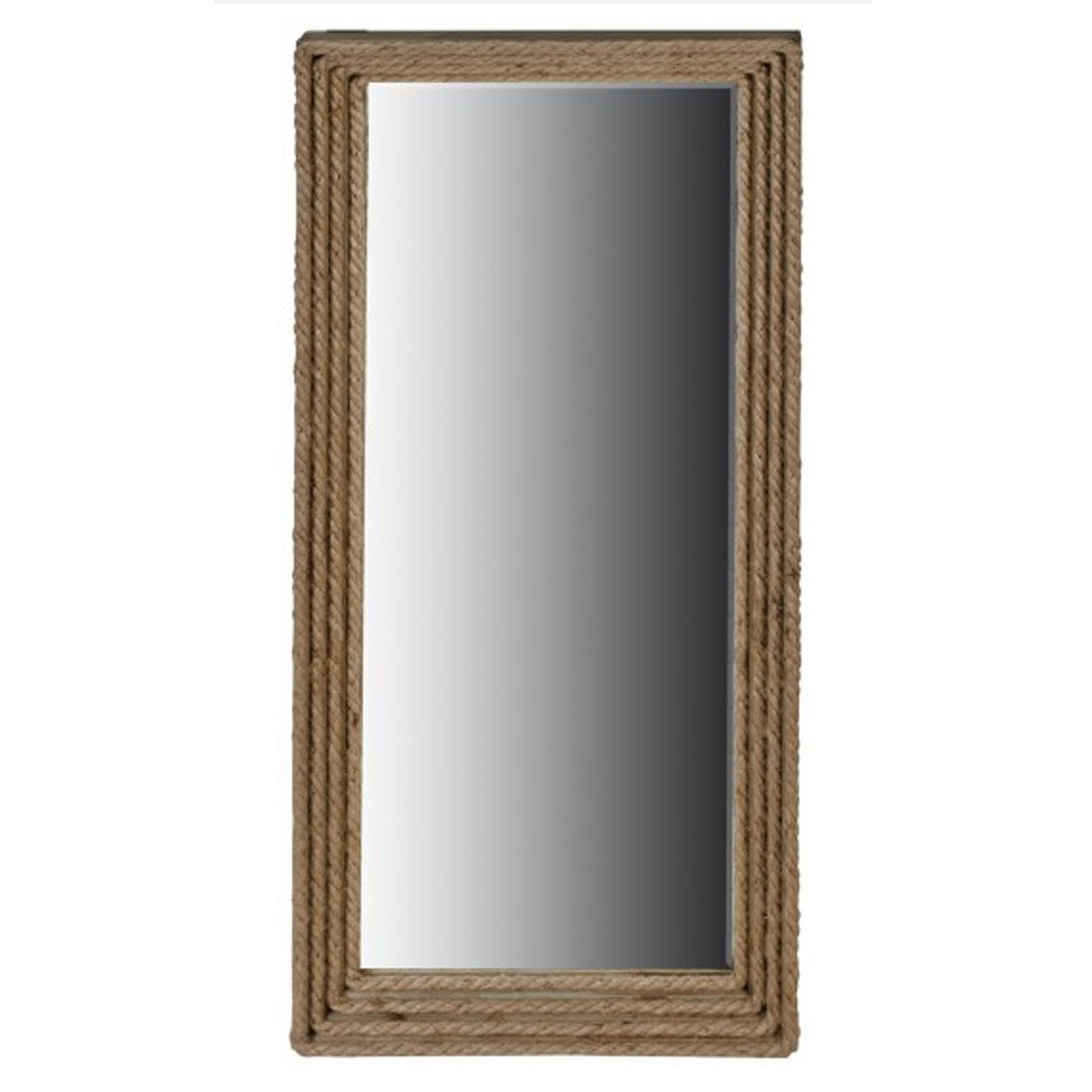 Modern Rectangular Wall Mirrors With Most Popular Rope Edged Rectangular Mirror (View 12 of 20)