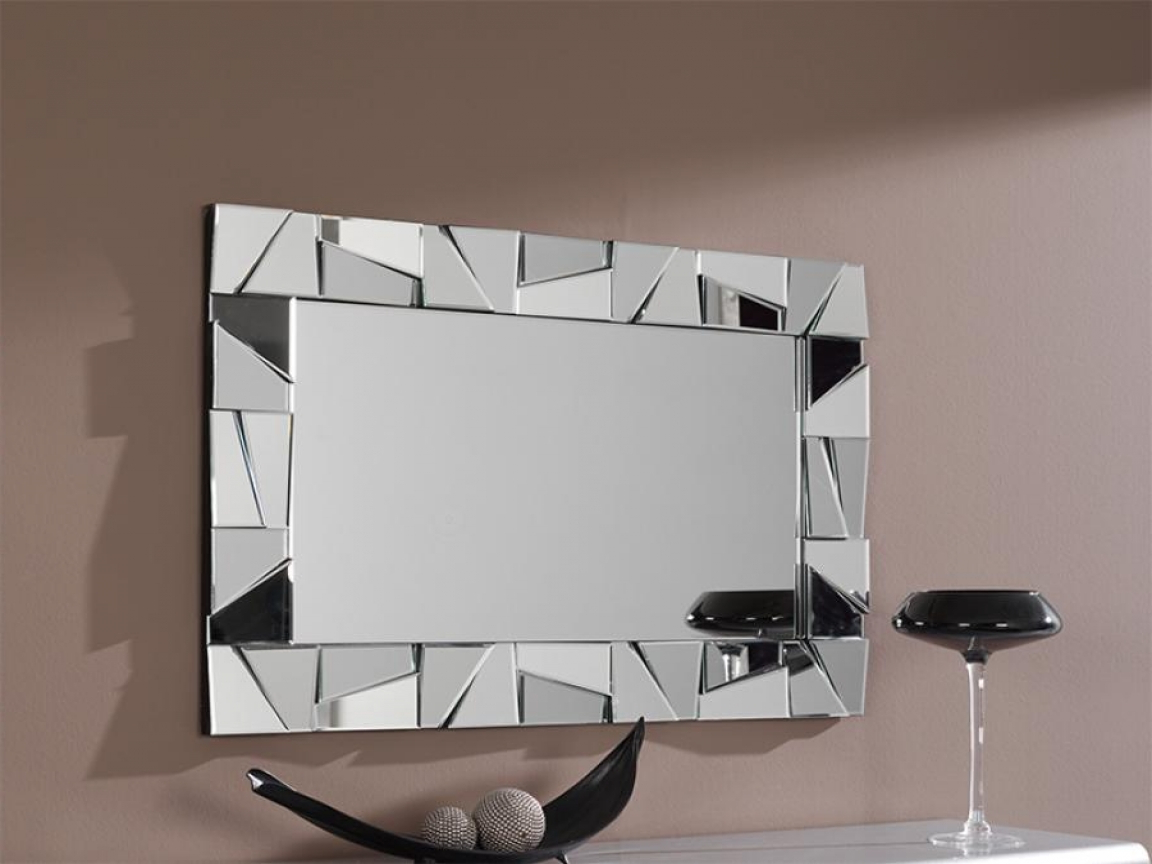 Modern Rectangular Wall Mirrors With Regard To Widely Used Fantastic Bathroom Wall Mirrors Metal Artwork Decor Regarding Framed (View 9 of 20)