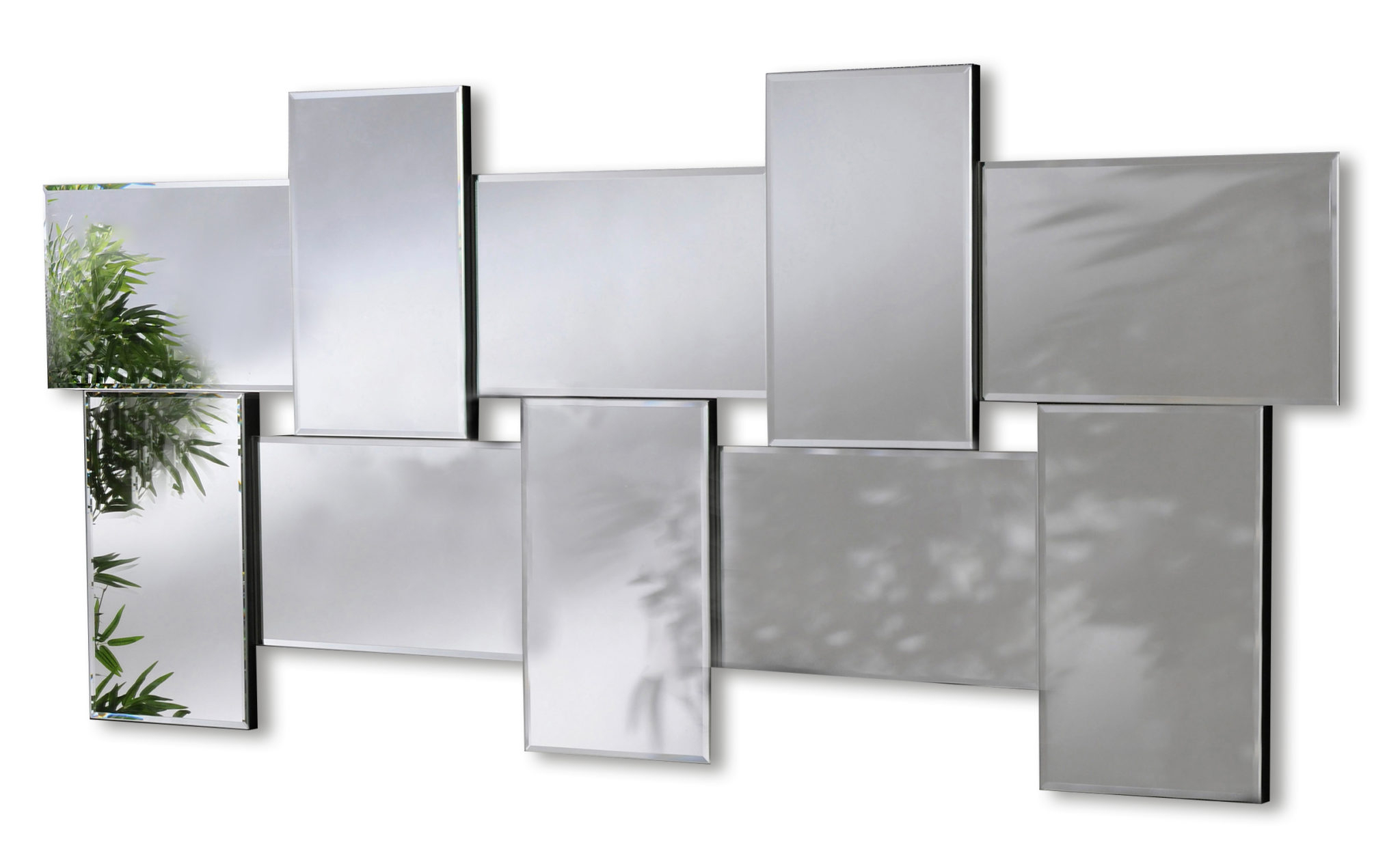 Modern Wall Mirrors Inside Famous Ceres Large Modern Bevelled Wall Mirrors (View 6 of 20)