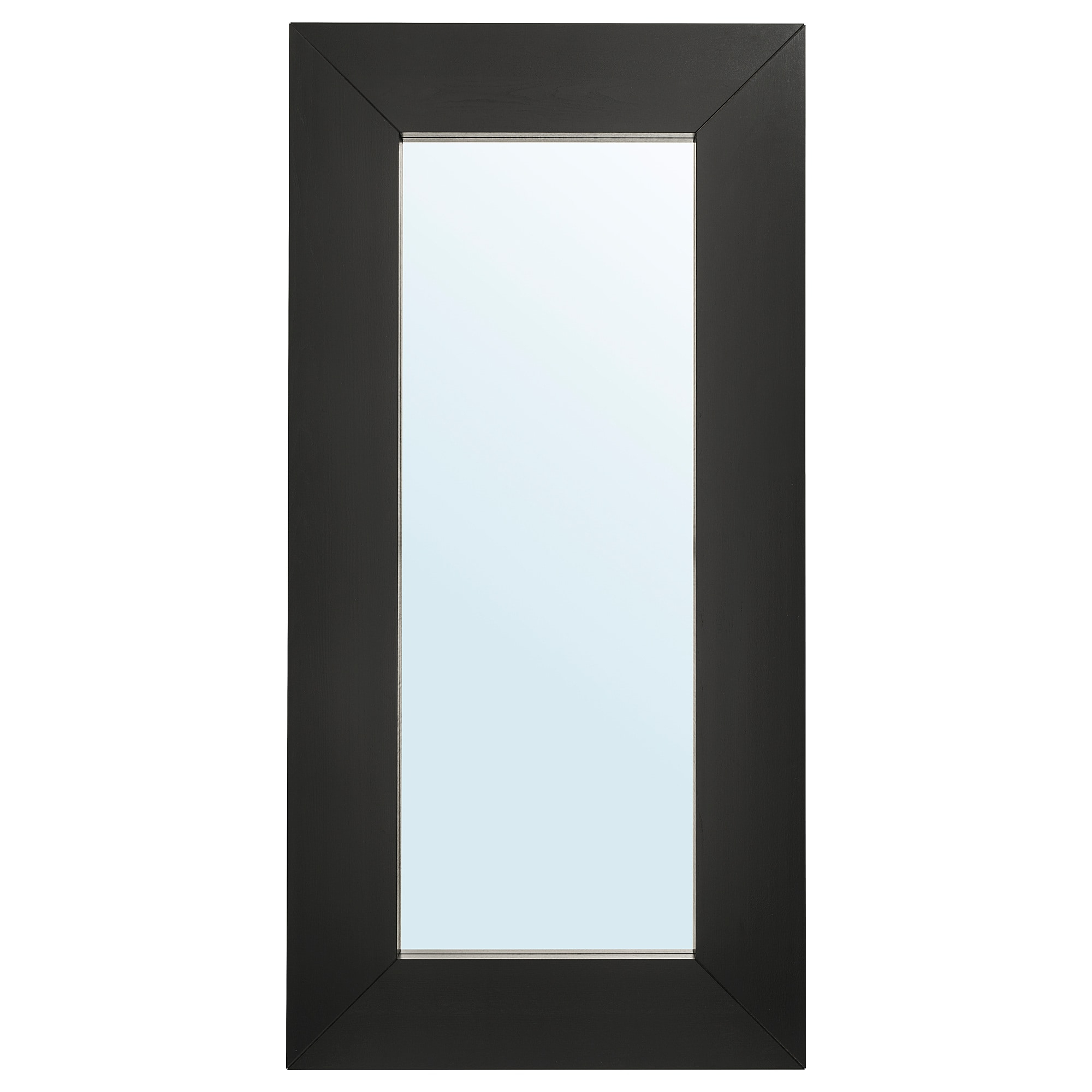 Mongstad Mirror, Black Brown Pertaining To Fashionable Ikea Round Wall Mirrors (View 6 of 20)