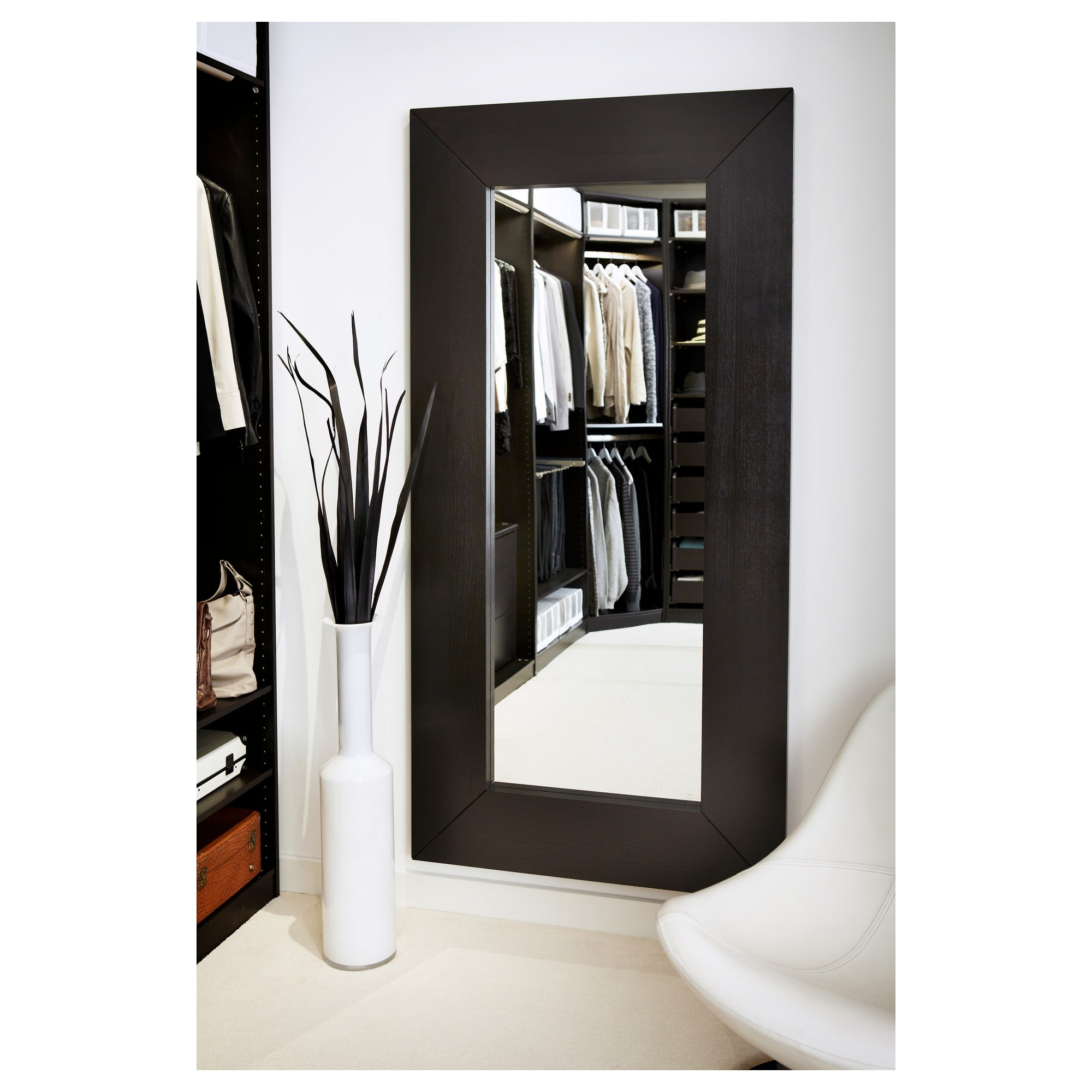 Mongstad – Mirror, Black Brown With Well Known Big Wall Mirrors From Ikea (View 2 of 20)