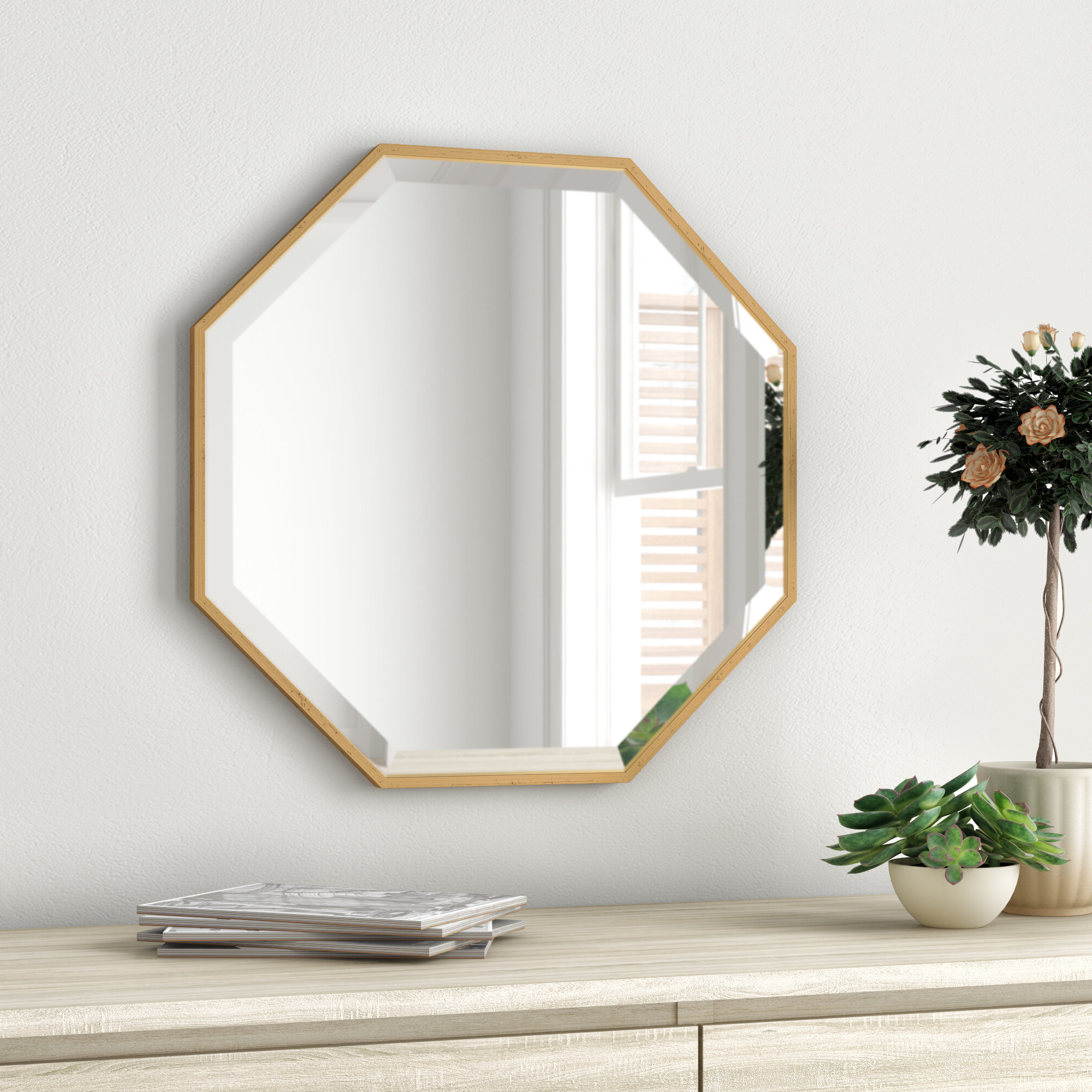 Morganton Modern & Contemporary Beveled Accent Mirror With Trendy Dekalb Modern & Contemporary Distressed Accent Mirrors (View 12 of 20)
