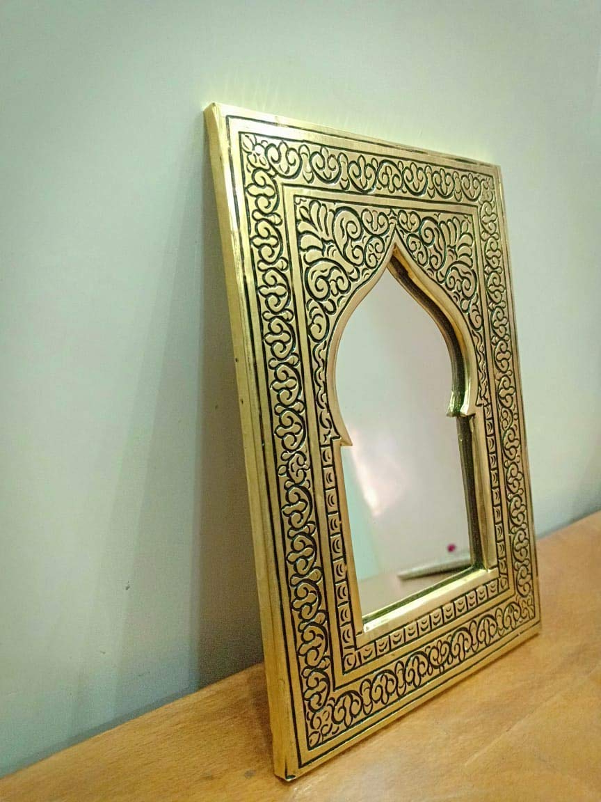 "Moroccan Wall Mirrors Intended For Popular Amazon: K Deco&design Hand Wall Mirror With Copper Metal Parts""6 (Gallery 17 of 20)"