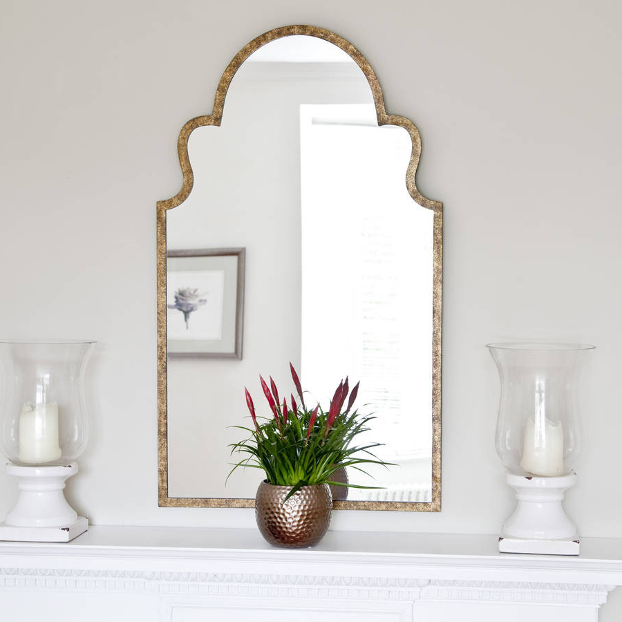 Moroccan Wall Mirrors Pertaining To Recent Moroccan Bronze Mirror (Gallery 19 of 20)