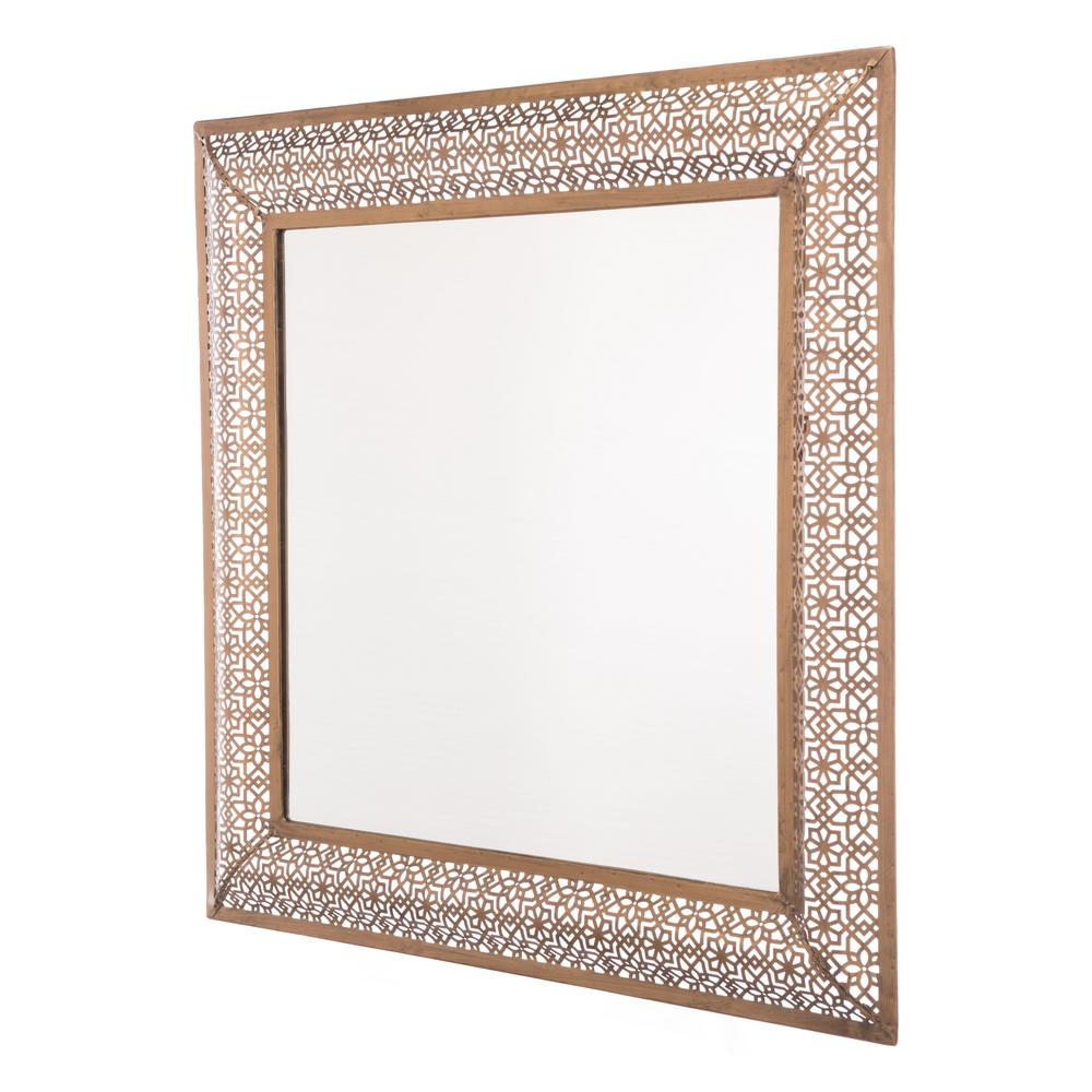 Moroccan Wall Mirrors With Fashionable Moroccan Escamas Antique Gold Wall Mirror (View 7 of 20)