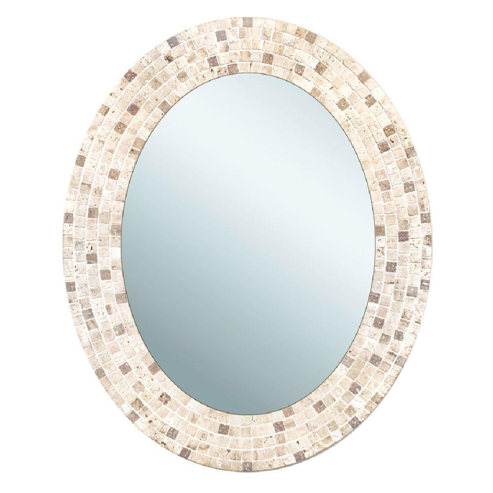 Mosaic Framed Wall Mirrors Inside Most Up To Date Details About 25 In. X 31 In (View 11 of 20)