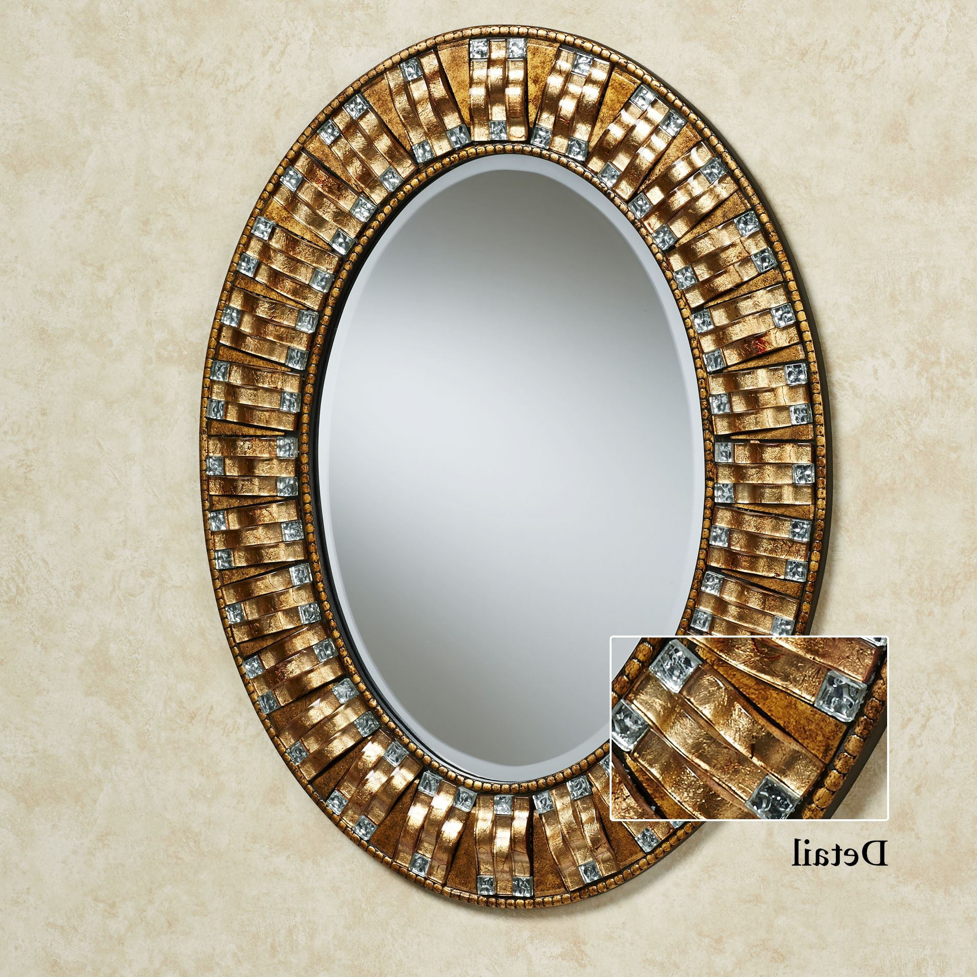 Mosaic Wall Mirrors Regarding Most Up To Date Maybelle Mosaic Oval Wall Mirror (View 8 of 20)