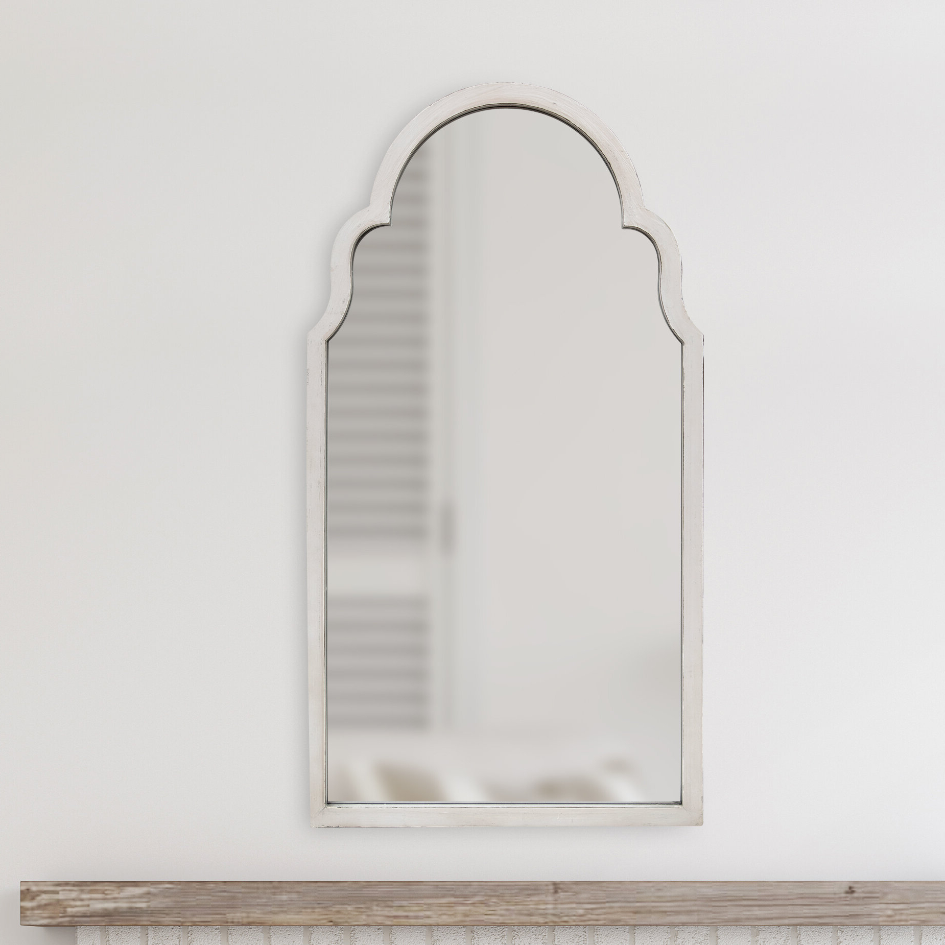 Moseley Accent Mirrors Inside Trendy Elisha Hand Painted Arch Accent Mirror (View 20 of 20)