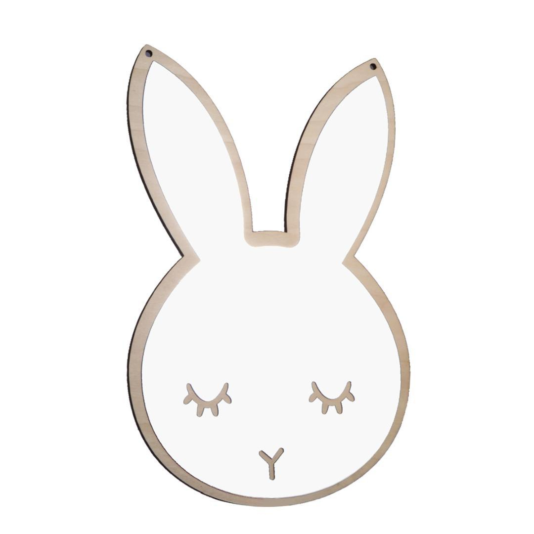 Most Current 1pc Mirror Rabbit Shaped Cute Self Adhesion Wall Mirror Decal Decorative For Kids Infant Toddler Baby Children With Cute Wall Mirrors (View 19 of 20)