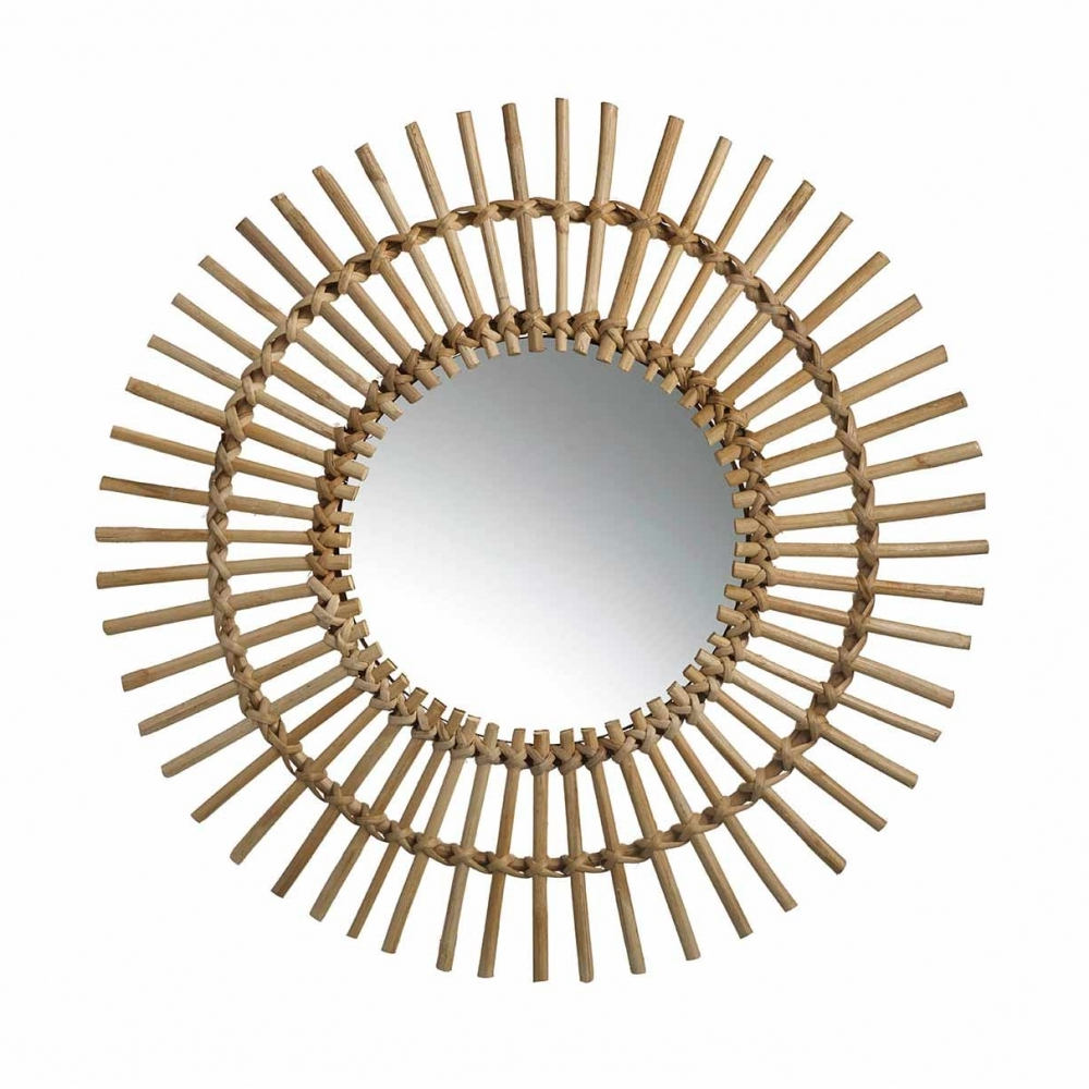 Most Current Akello Round Bamboo Frame Wall Mirror In Bamboo Framed Wall Mirrors (View 13 of 20)