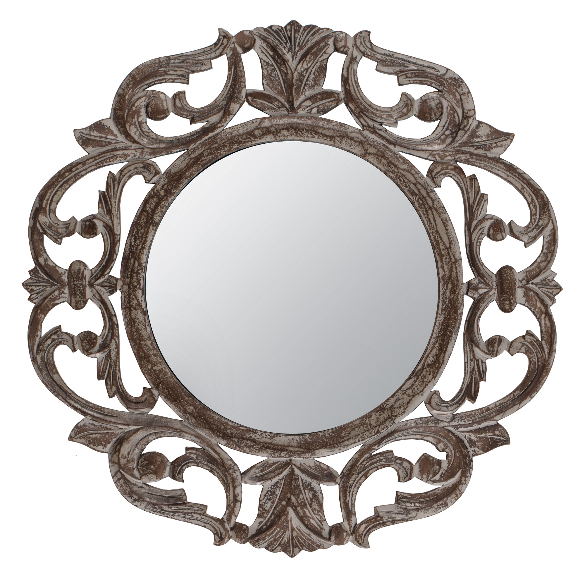 Most Current Alissa Traditional Wall Mirrors With Regard To Ezekiel Accent Mirror (View 10 of 20)