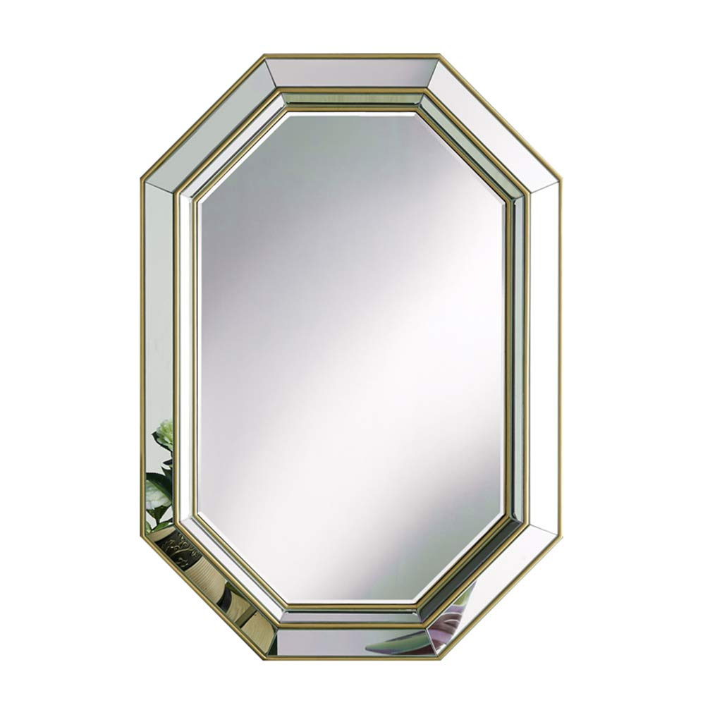 Most Current Amazon: Bathroom Mirrors Hanging On The Wall Mirror Gold Stereo Intended For Hanging Wall Mirrors For Bathroom (Gallery 15 of 20)