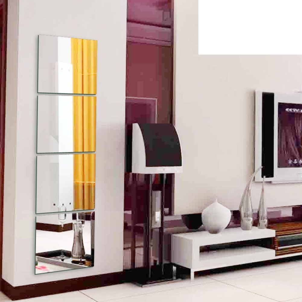 Most Current Amazon: Cosmetic Mirror/mirror/combination Frameless Mirror With Regard To Full Length Frameless Wall Mirrors (View 15 of 20)