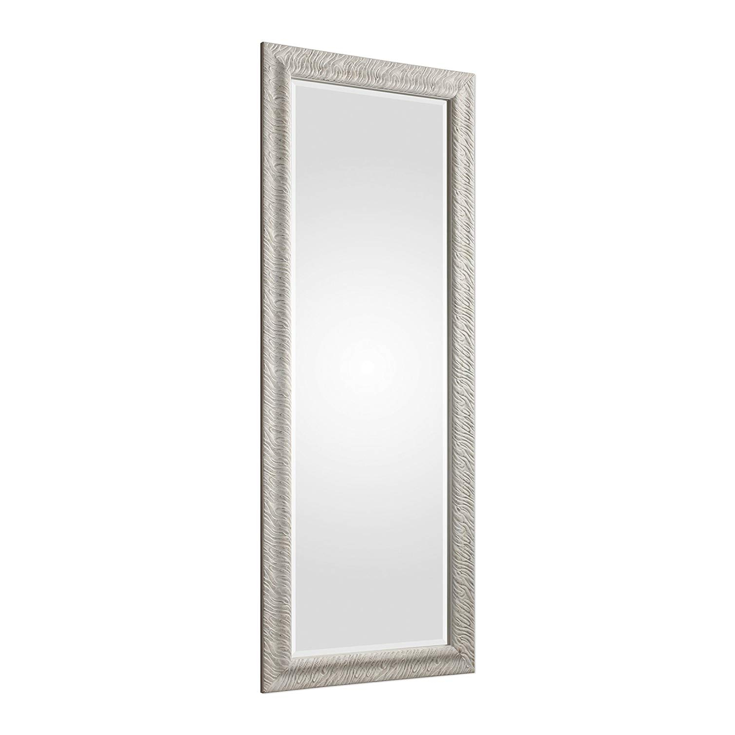 Most Current Amazon: My Swanky Home Embossed Wood White Waves 79 Regarding Full Length Wavy Wall Mirrors (View 13 of 20)