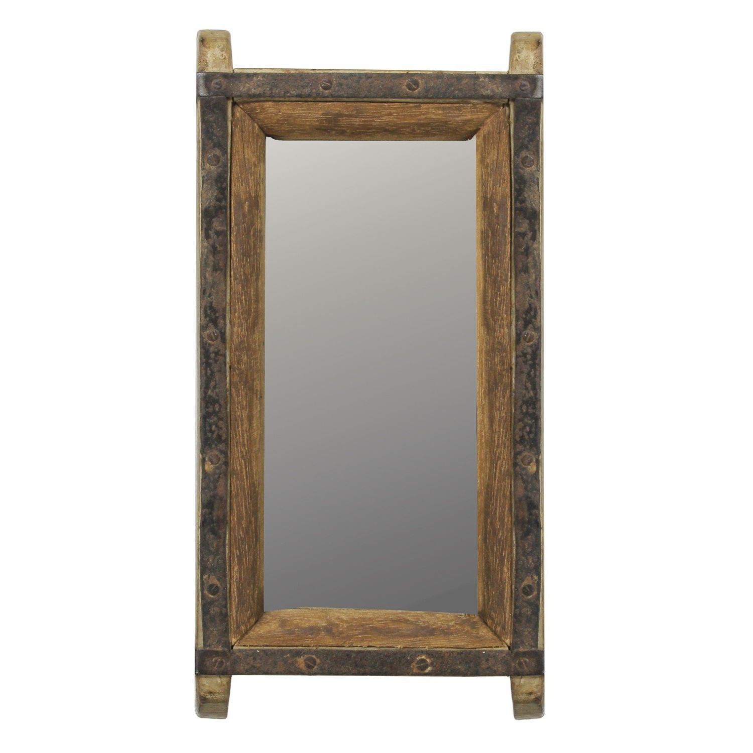 Most Current Amazon: My Swanky Home Vintage Wood Brick Mold Wall Mirror Within Vintage Wall Mirrors (View 11 of 20)