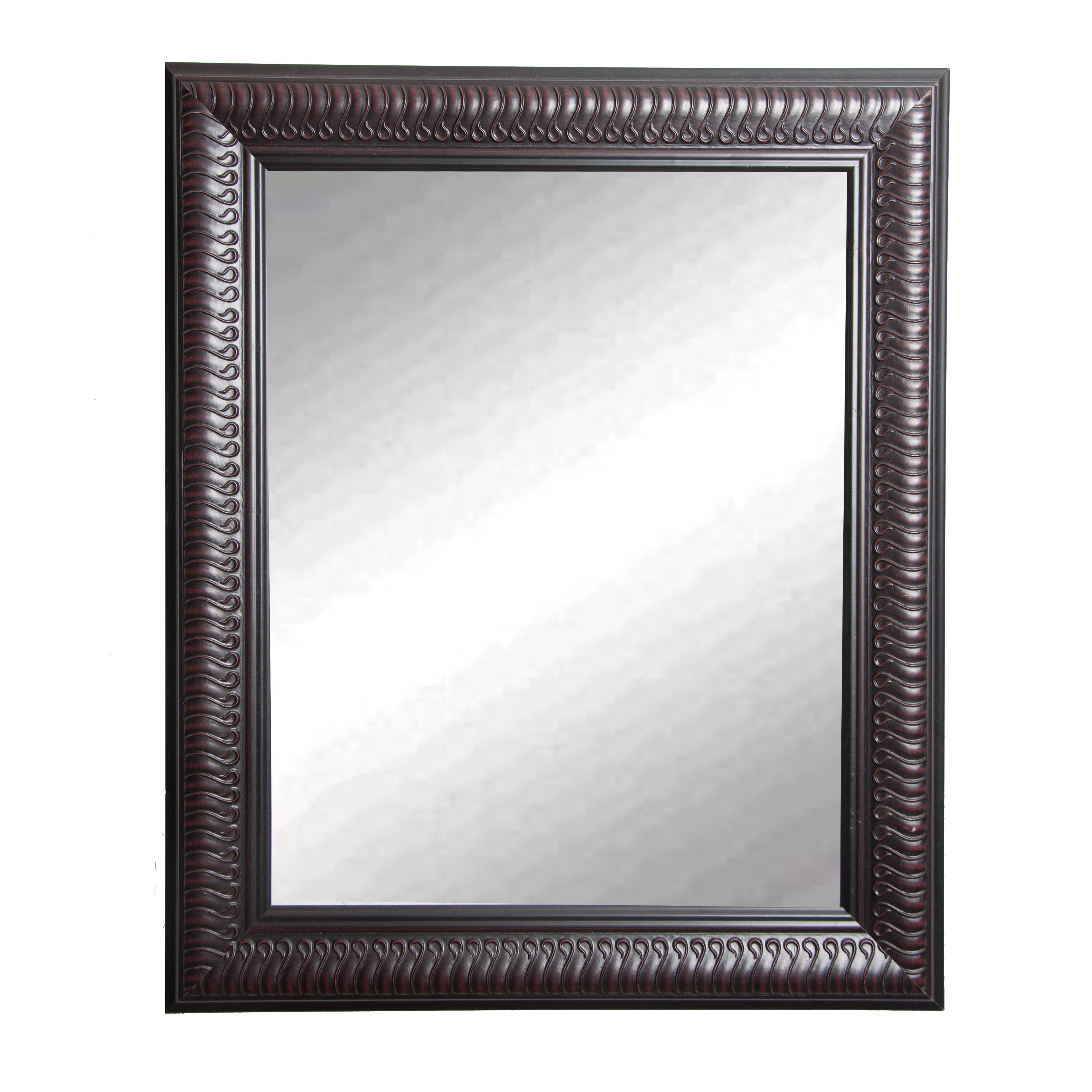 Most Current American Made Rayne Royal Curve Accent Vanity Wall Mirror – Dark Mahogany In American Made Accent Wall Mirrors (View 12 of 20)