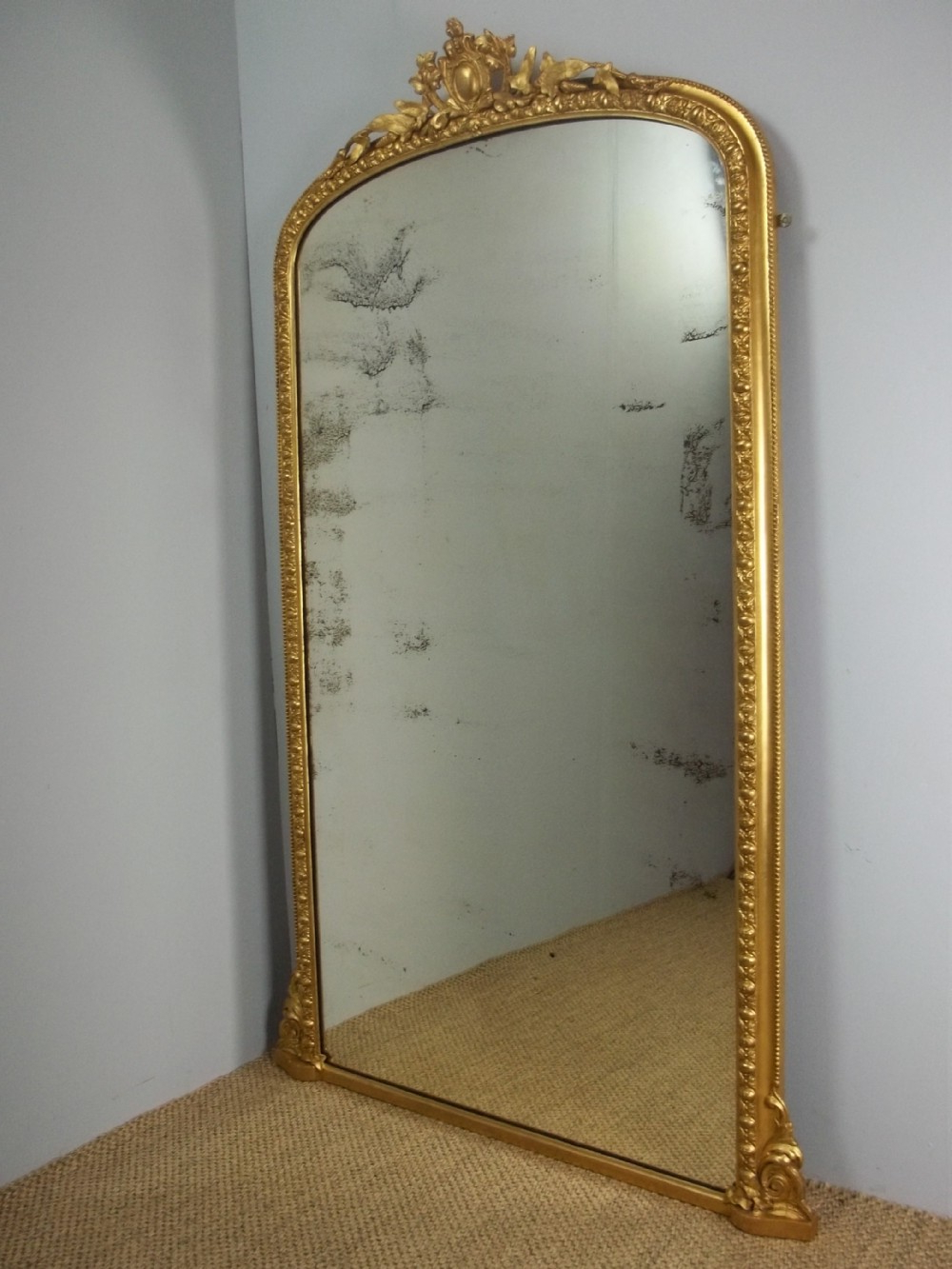 Most Current Antique Gilt Pier Console Cheval Dressing Room Wall Tall Within Tall Narrow Wall Mirrors (View 8 of 20)