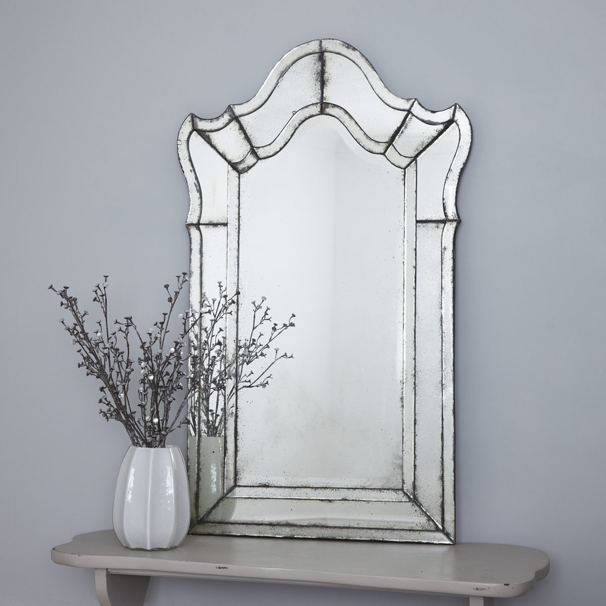 Most Current Antiqued Venetian Wall Mirror Throughout Antiqued Wall Mirrors (View 14 of 20)