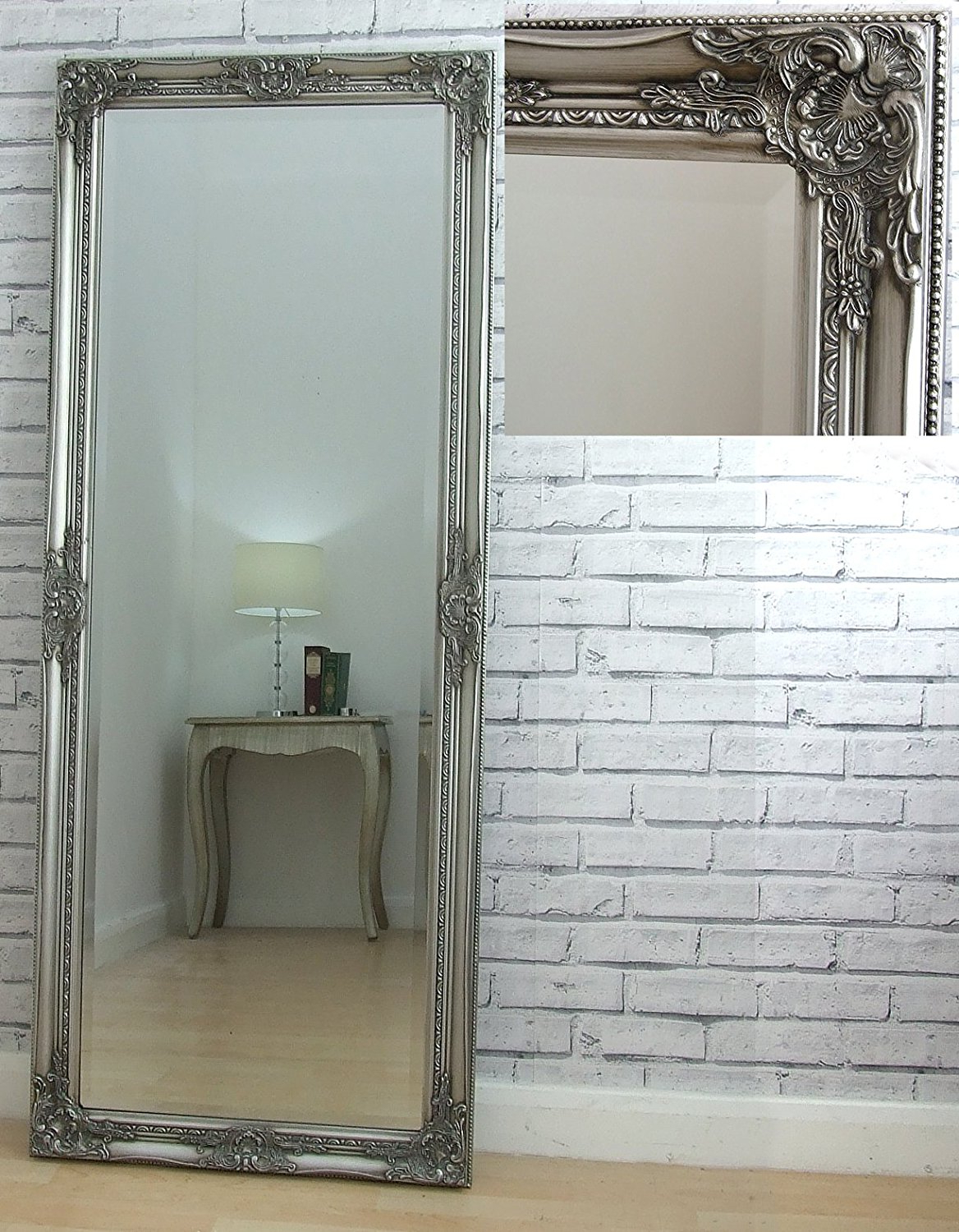 Most Current Ausergewohnlich White Vintage Full Length Wall Mirror Set Round Within Large Vintage Wall Mirrors (View 6 of 20)