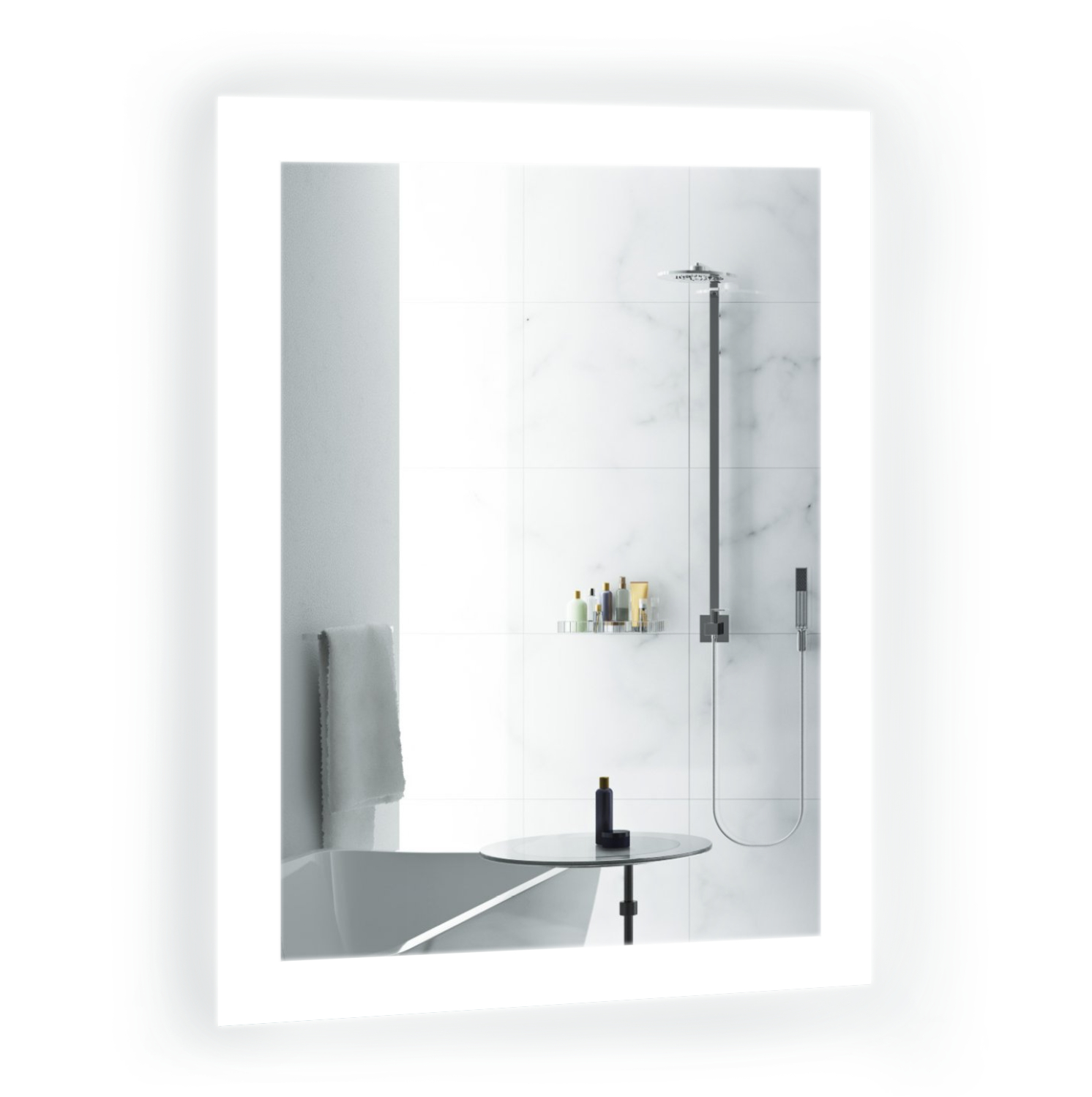 Most Current Bijou 15″ X 20″ Led Bathroom Mirror W/ Dimmer & Defogger (View 15 of 20)