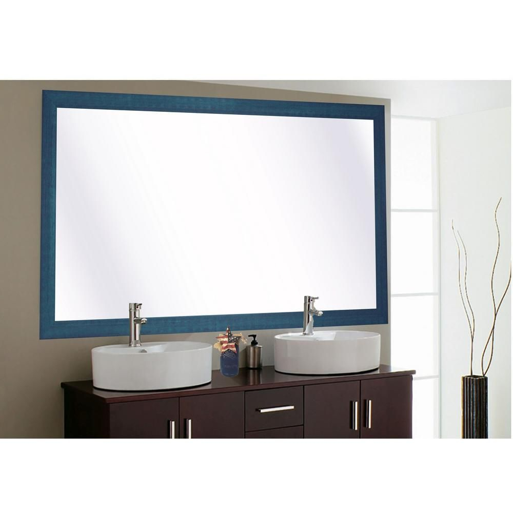 Most Current Blue Framed Wall Mirrors In Rayne Mirrors 78 In. X 39 In (View 4 of 20)