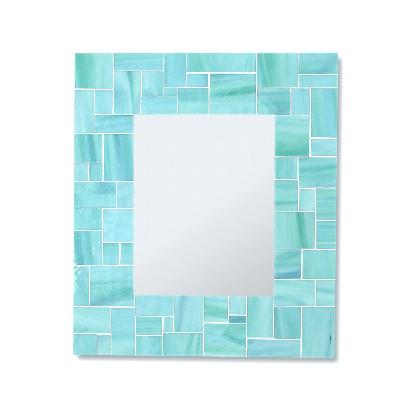 Most Current Buy Hand Crafted Decorative Sea Green Mosaic Bathroom Wall Mirror In Throughout Glass Mosaic Wall Mirrors (View 19 of 20)