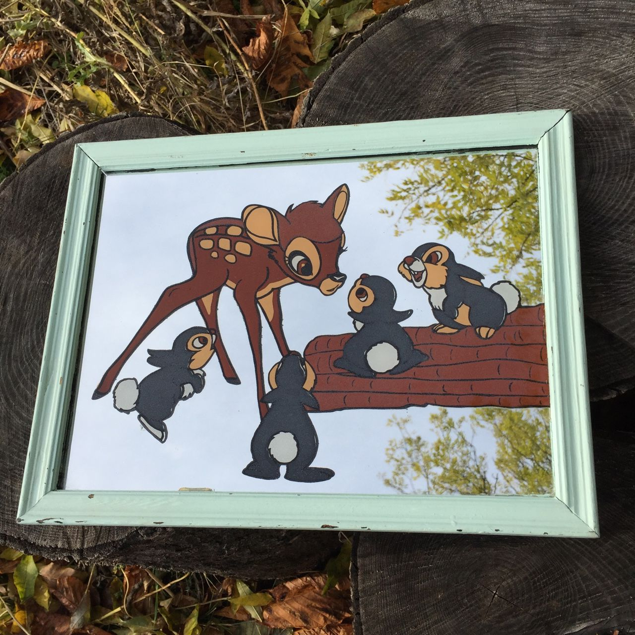 Most Current Disney Wall Mirrors Regarding Bambi And Thumber Walt Disney Vintage Wall Mirror (View 9 of 20)