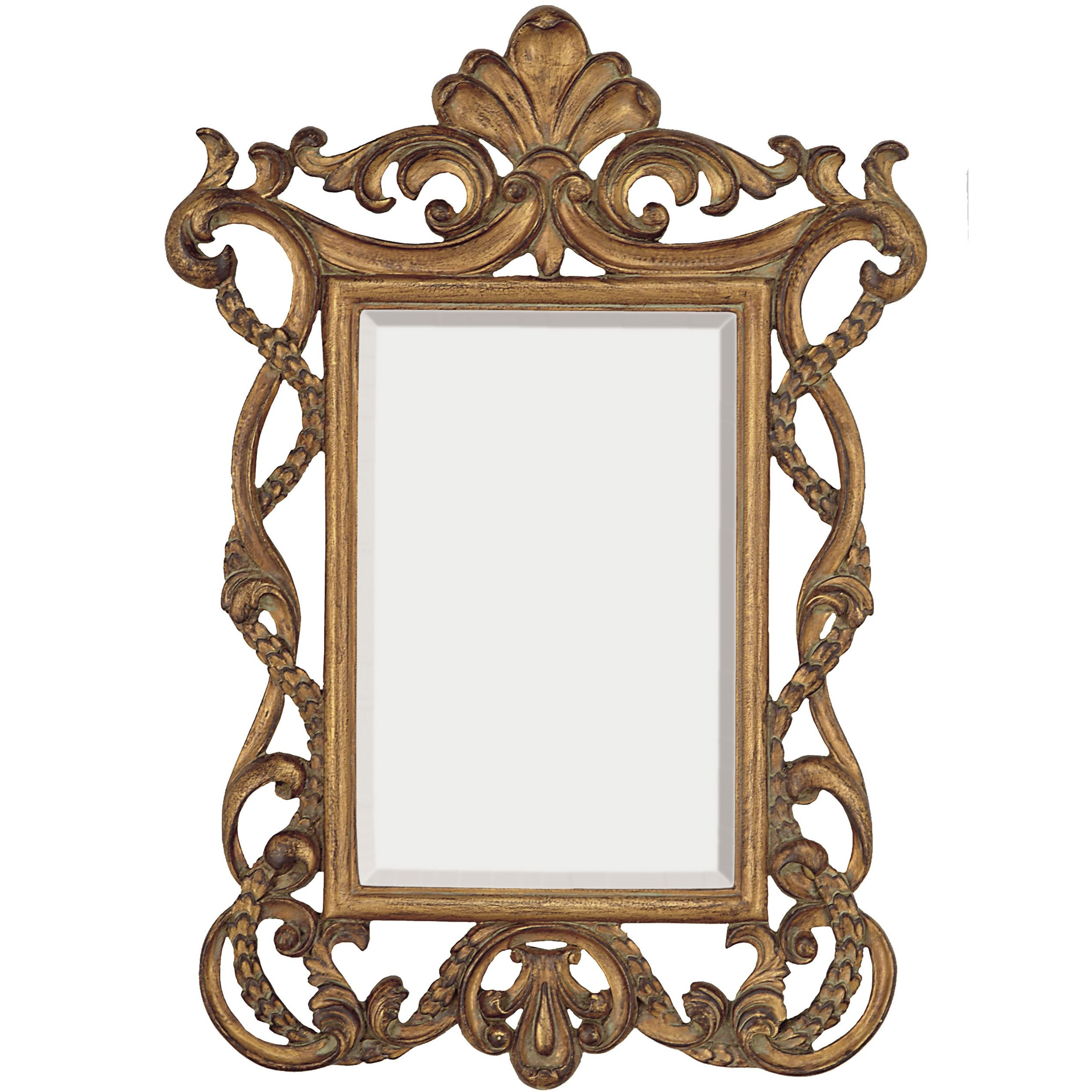 Most Current Elegant Wall Mirrors Intended For Elegant Traditional Rectangular Gold Beveled Glass Wall Mirror (Gallery 10 of 20)