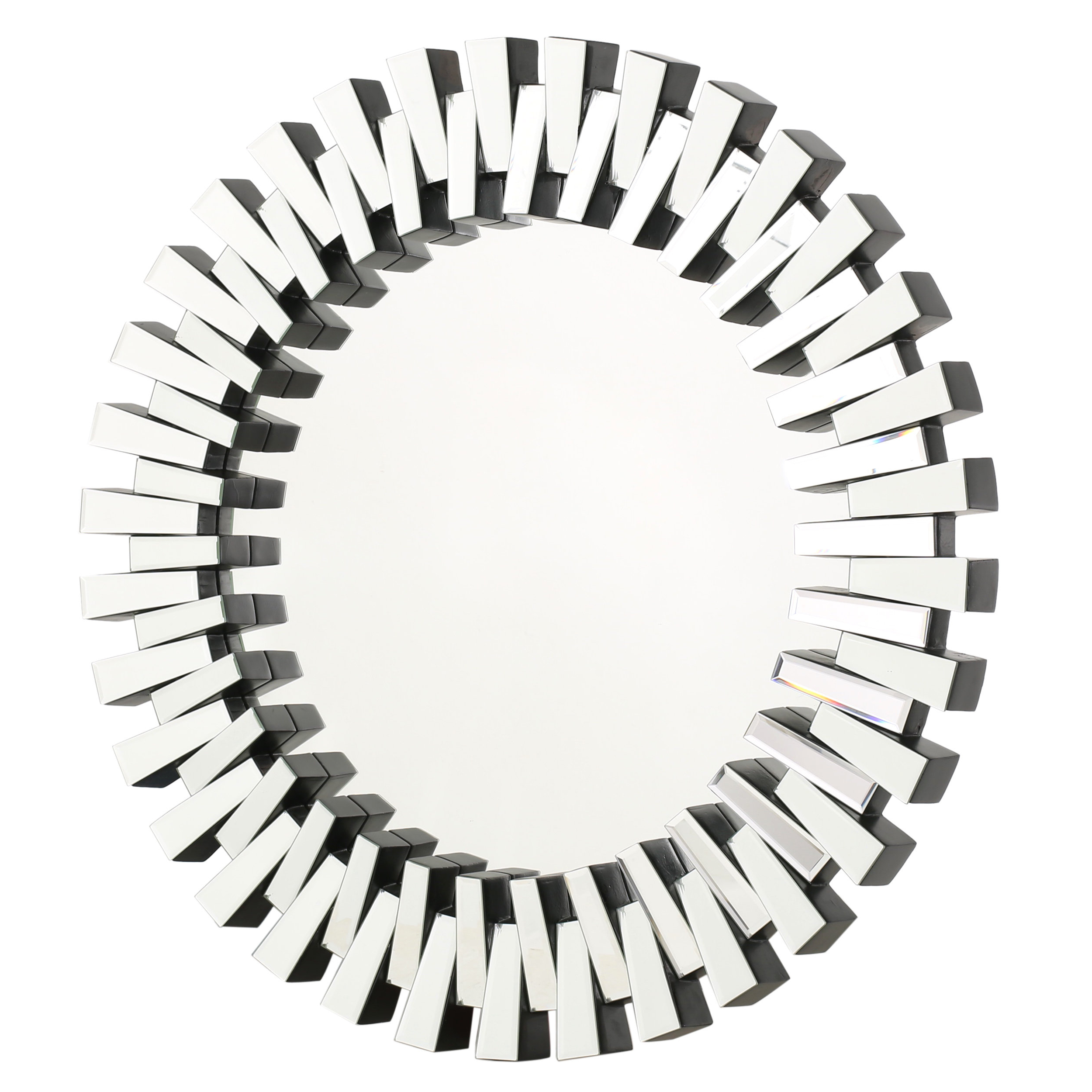 Most Current Estrela Modern Sunburst Metal Wall Mirrors For Deniece Sunburst Round Wall Mirror (View 15 of 20)