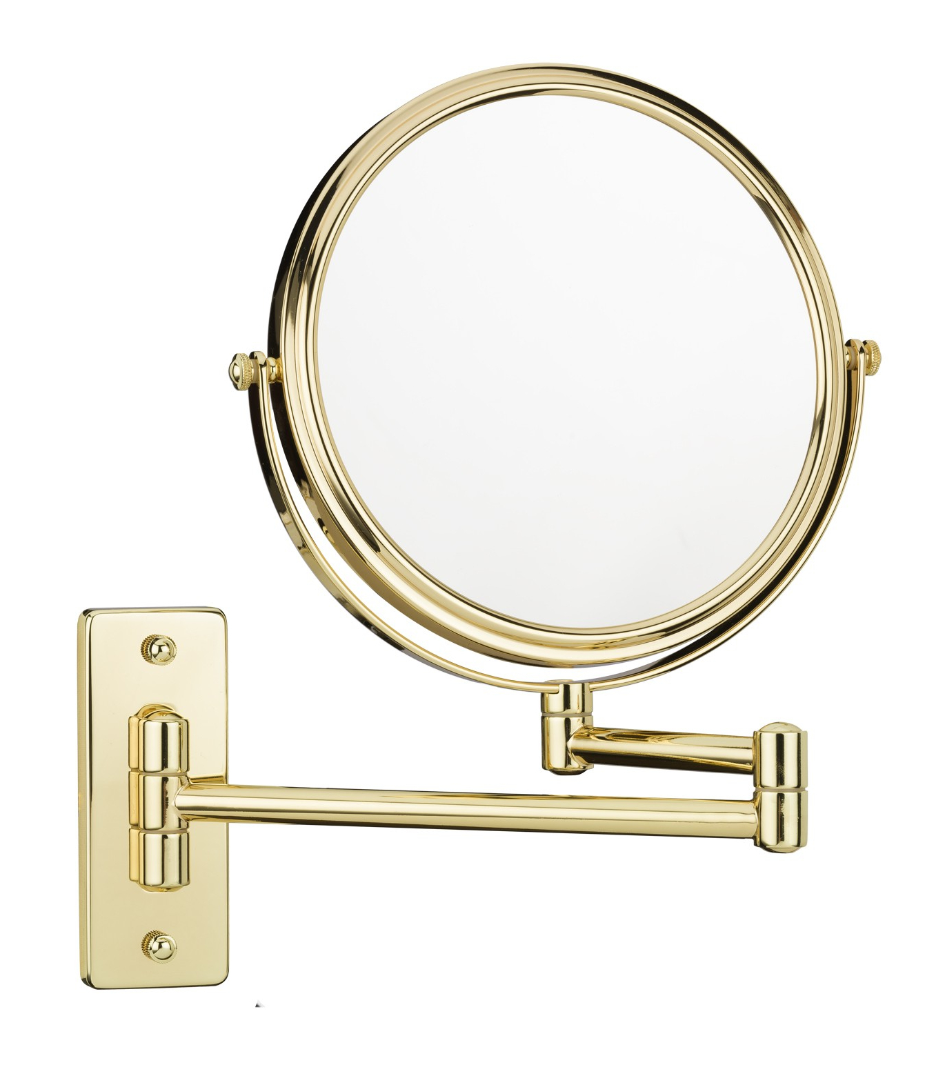 Most Current Extension Arm Wall Mirrors Within Double Arm Double Sided 5X/1X Makeup Wall Mirror (View 17 of 20)