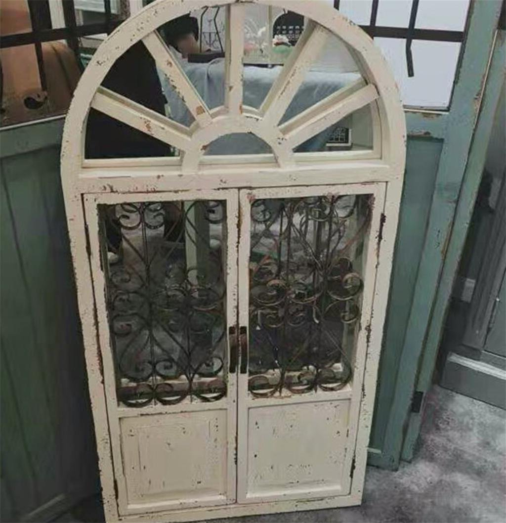 Most Current Faux Window Wood Wall Mirrors Regarding Dzw Antique Wood Retro Fake Window Wall Hanging,mirror Windows (View 10 of 20)