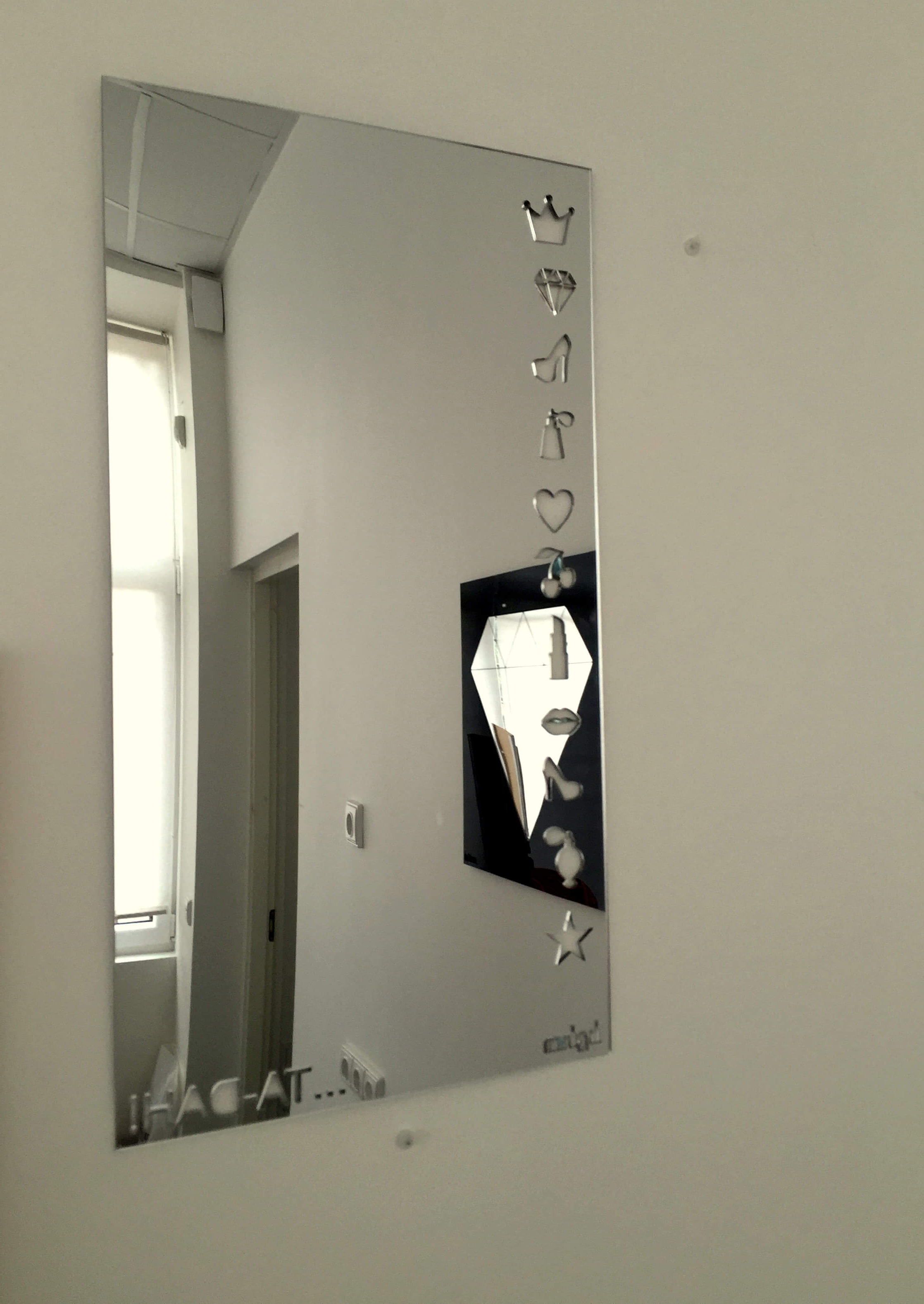 Most Current Girls Wall Mirrors Throughout Acrylic Mirror Wall Sticker – Ta Dah! – (View 6 of 20)