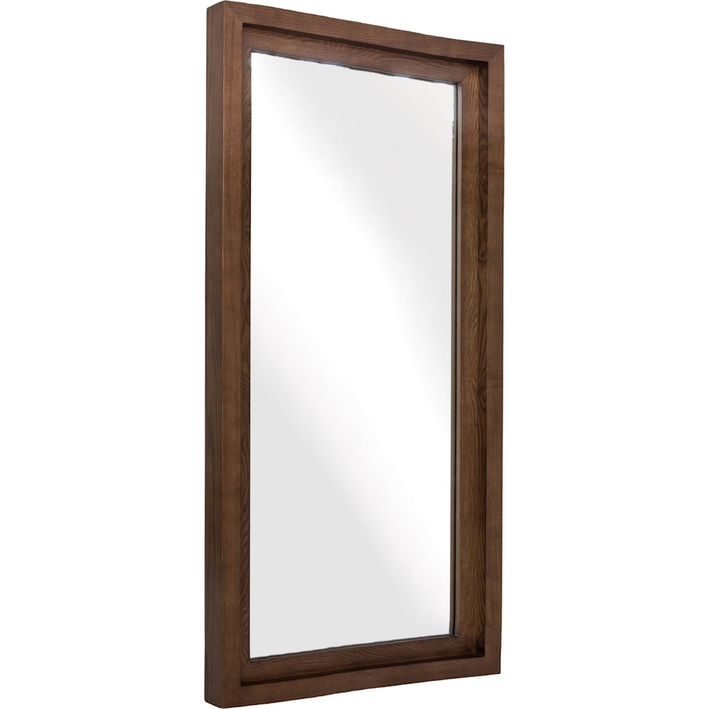 Most Current Glam Walnut Wood Wall Mirror Within Walnut Wall Mirrors (View 3 of 20)