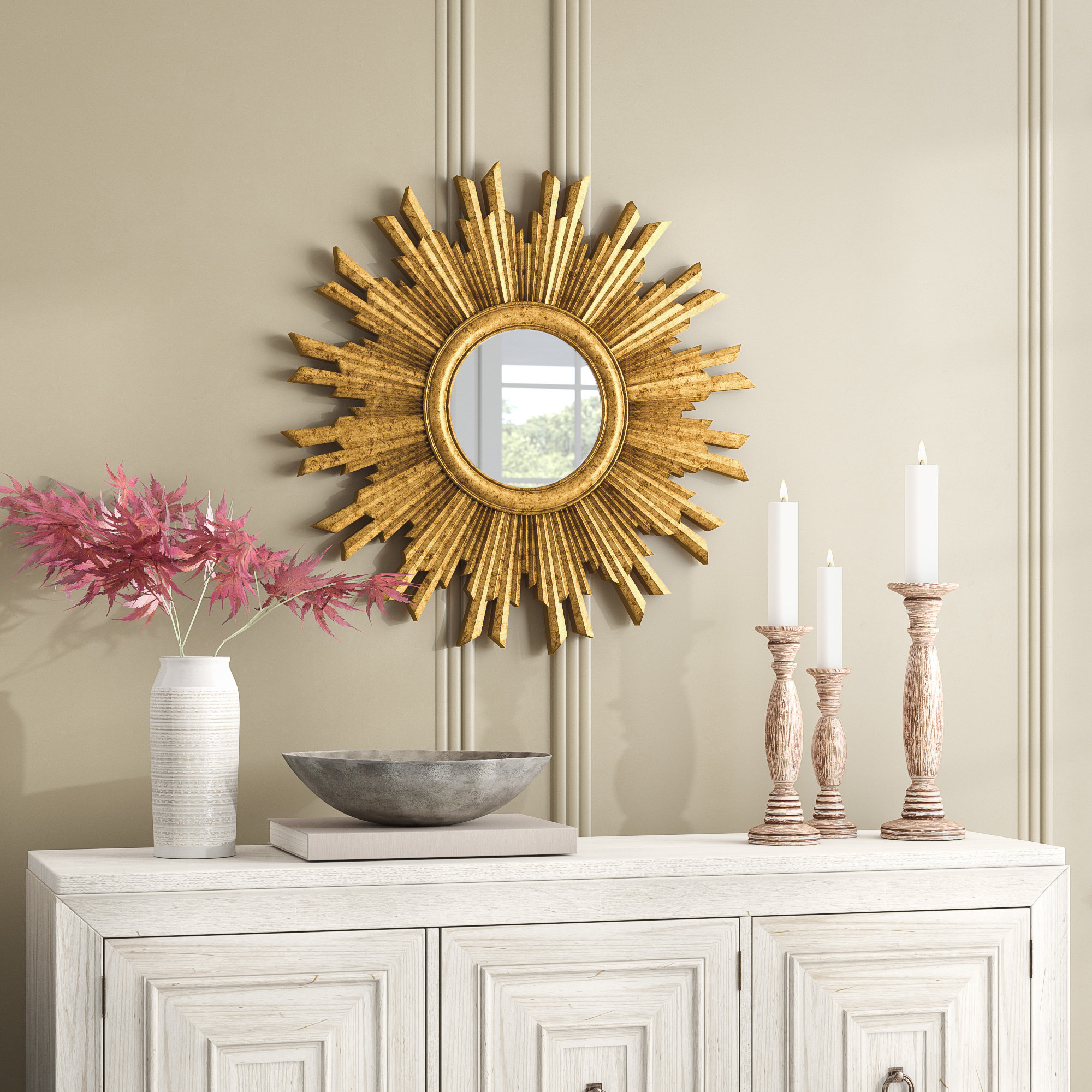 Featured Photo of Harbert Modern And Contemporary Distressed Accent Mirrors