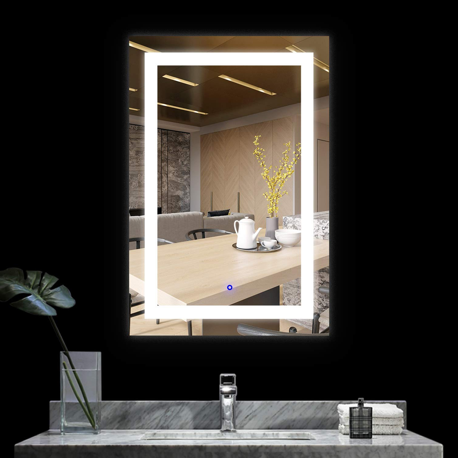 Most Current Infinite Reflections Led Bathroom Makeup Vanity Mirror With Lights Wall Mounted Backlit Mirror, Bathroom Lighted Mirror 18 X 24 Inch With Regard To Reflection Wall Mirrors (View 10 of 20)