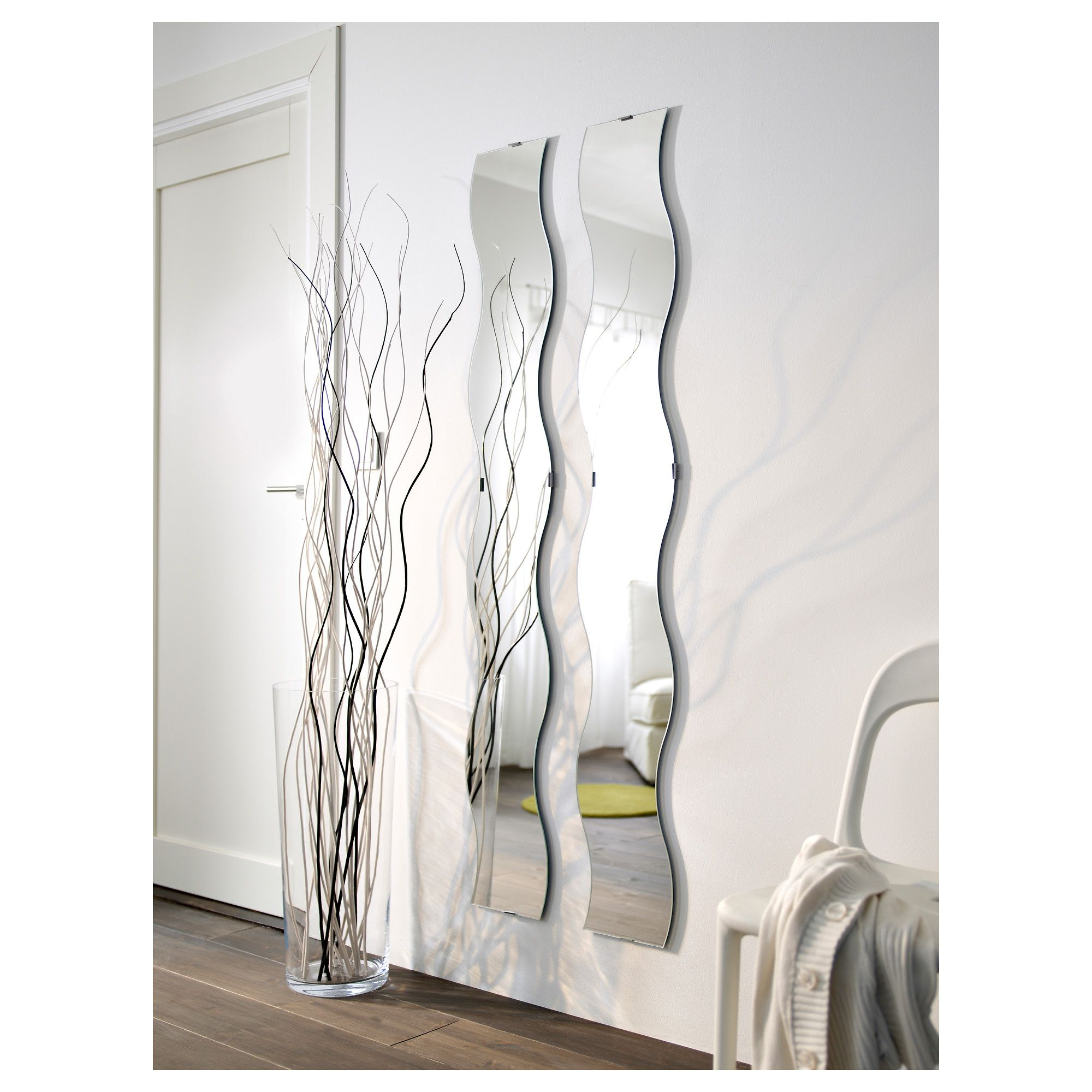 Most Current Krabb Καθρέφτης – Ikea Cyprus – Twin Pack Wavy Mirrors  (View 13 of 20)
