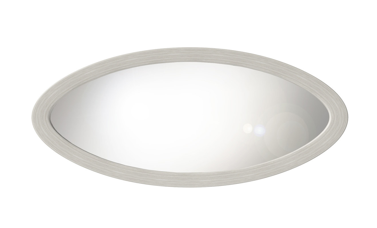 Most Current Large Oval Wall Mirror – White Wood In Large Oval Wall Mirrors (View 7 of 20)
