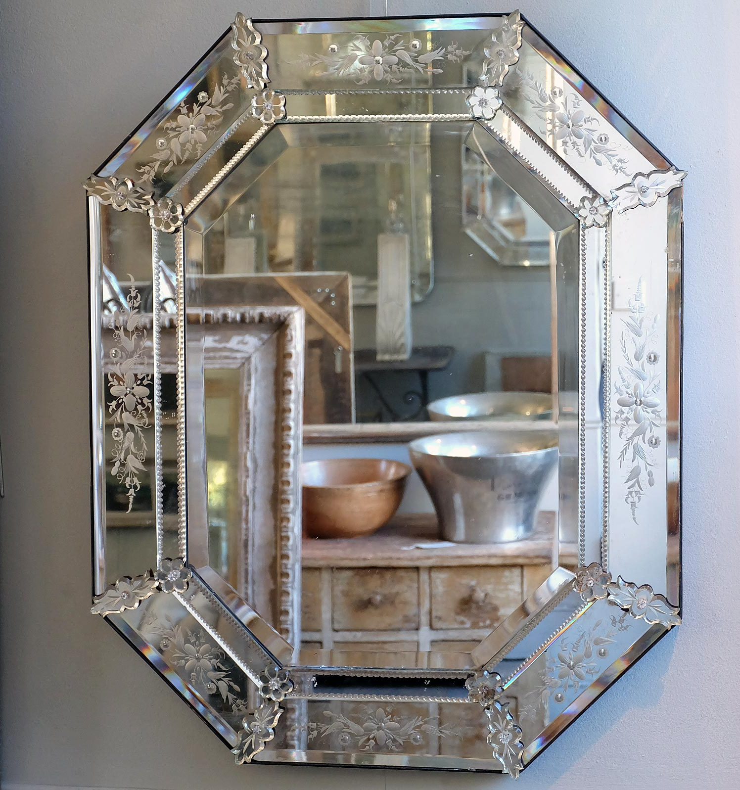 Most Current Large Venetian Wall Mirrors Within Interior: Venetian Beaded Leaner Mirror Venetian Mirror Large (View 18 of 20)