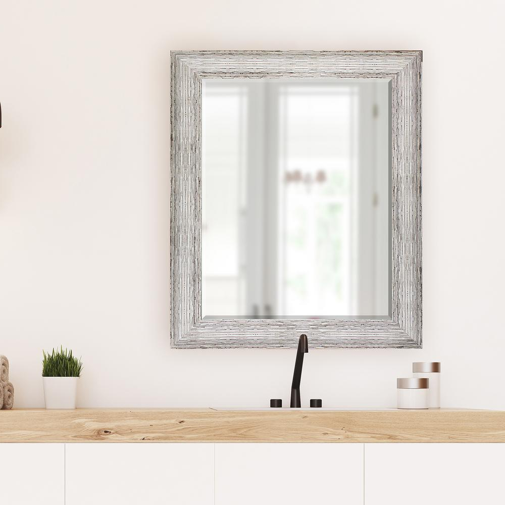 Most Current Large White Wall Mirrors Pertaining To 29.5 In X 35.5 In (View 19 of 20)