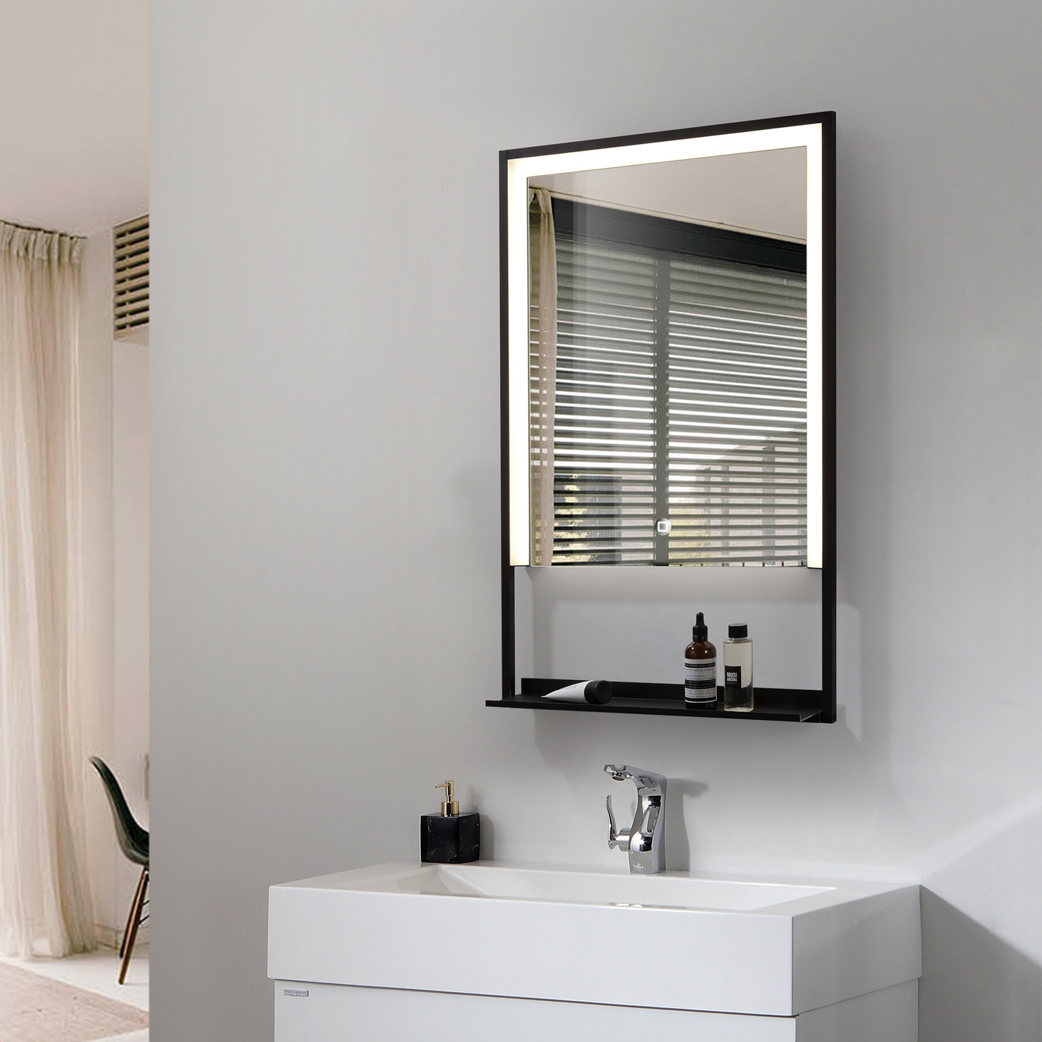 Most Current Led Wall Mirrors Inside 45w Madeira Led Backlit Wall Mirror (View 14 of 20)