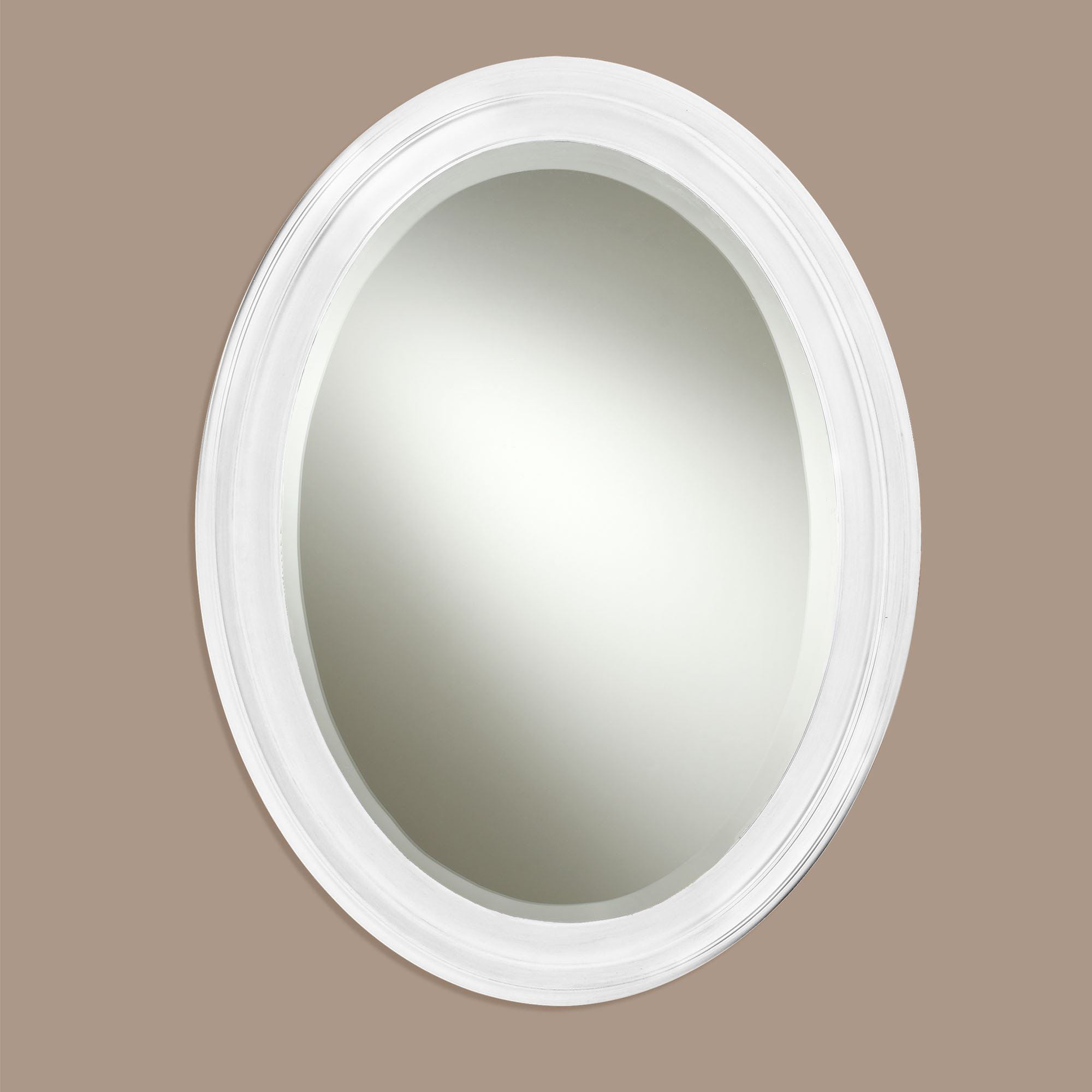 Most Current Loree Black Oval Wall Mirror Inside White Oval Wall Mirrors (View 6 of 20)