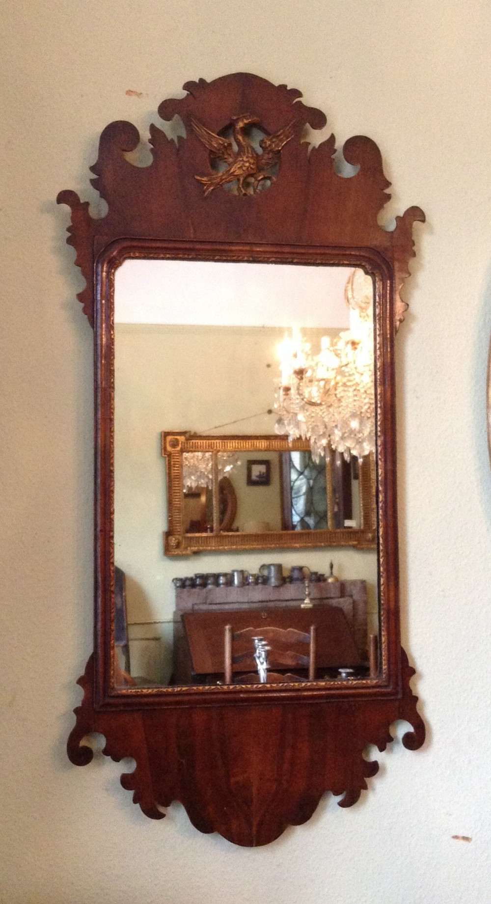 Most Current Mahogany Wall Mirrors Within Mahogany Wall Mirror With Hoho Bird (Gallery 16 of 20)