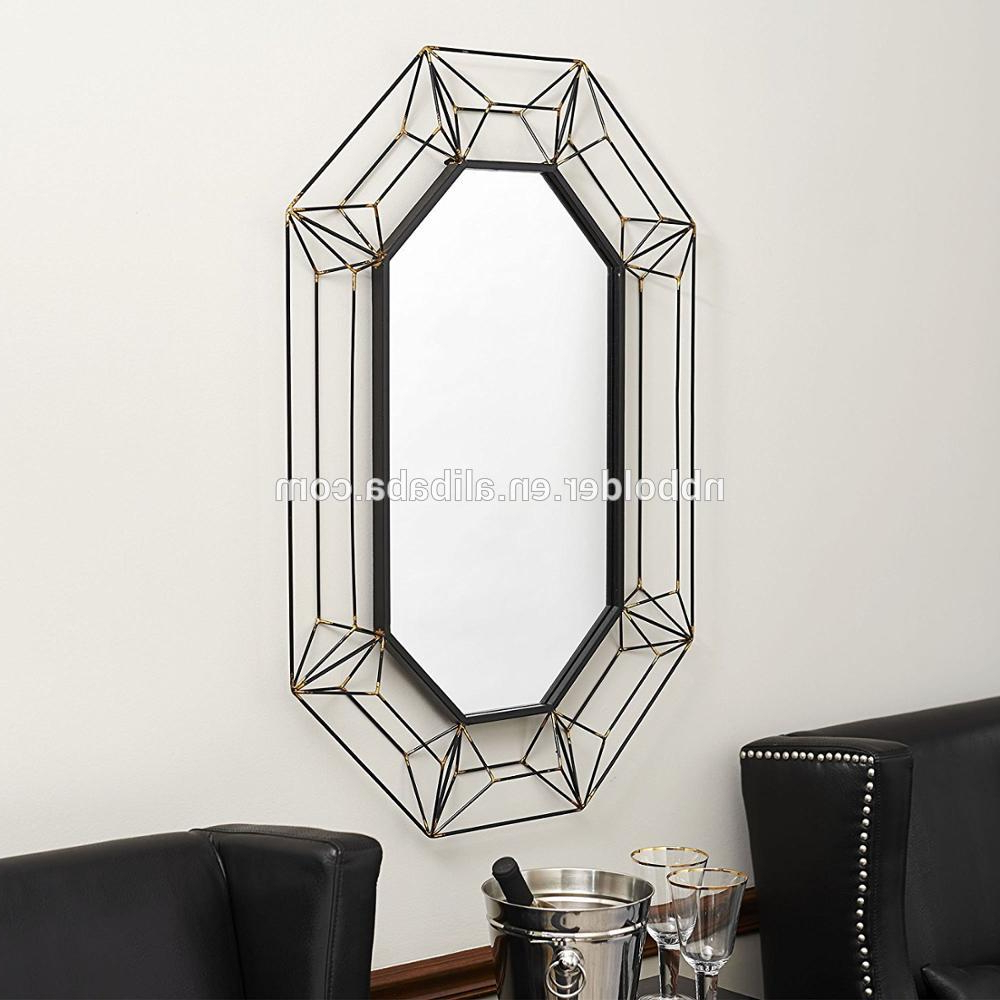 Most Current Metal Frame Wall Mirrors With Regard To Wall Hanging Large Metal Wire Frame Wall Mirror 3d Design Home Decorative Mirrors – Buy Metal Frame Mirror,wall Mirror Shelf,metal Frame Mirror With (View 13 of 20)
