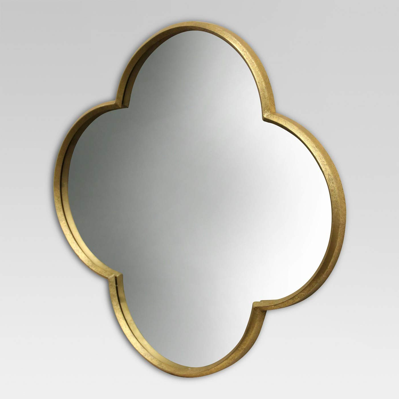 Most Current Quatrefoil Wall Mirrors For Amazon: Quatrefoil Decorative Wall Mirror Gold Finish (View 19 of 20)