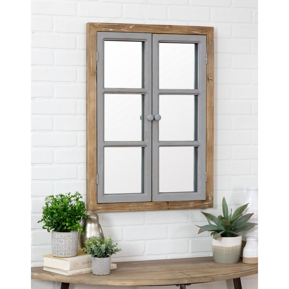 Most Current Rectangle Antique Galvanized Metal Accent Mirrors Throughout Aspire Home Accents Somerset Window Pane Wall Mirror 5537 – The Home (View 14 of 20)