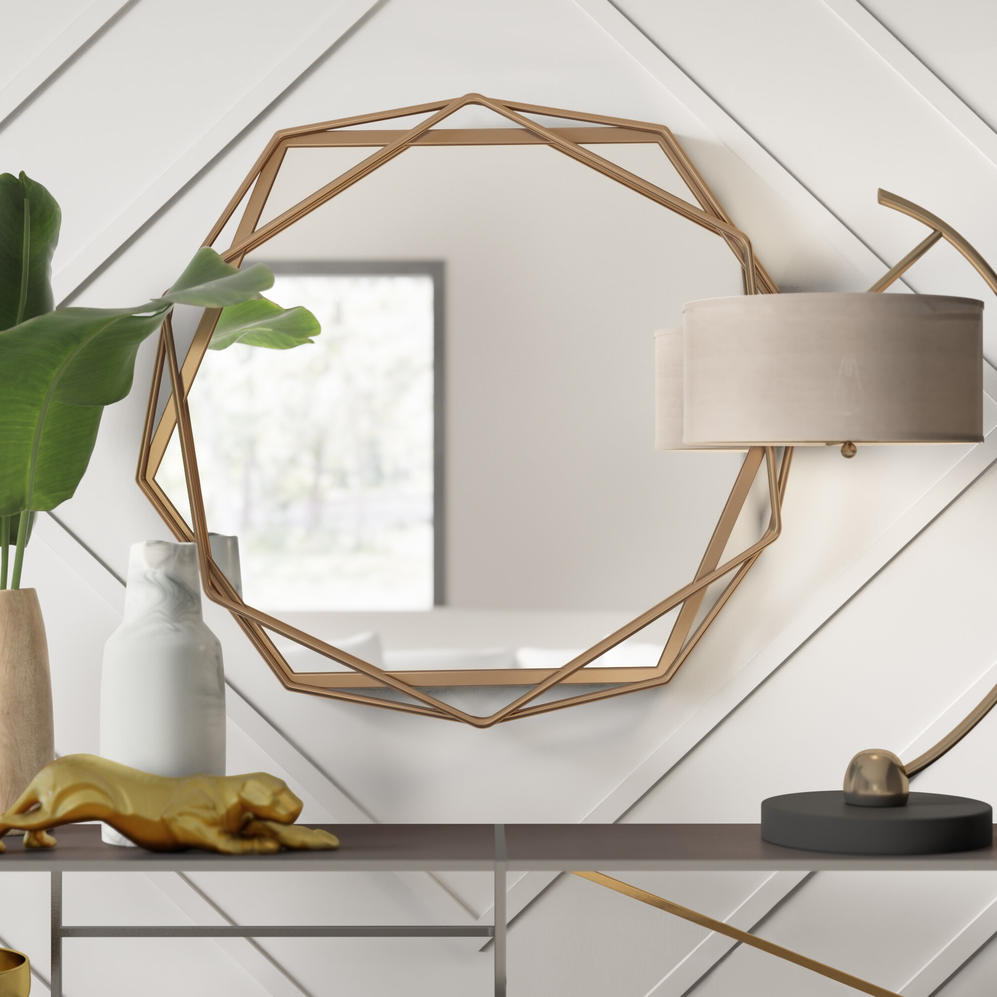 Most Current Rhein Accent Mirrors With Regard To Dekalb Modern & Contemporary Distressed Accent Mirror (View 13 of 20)