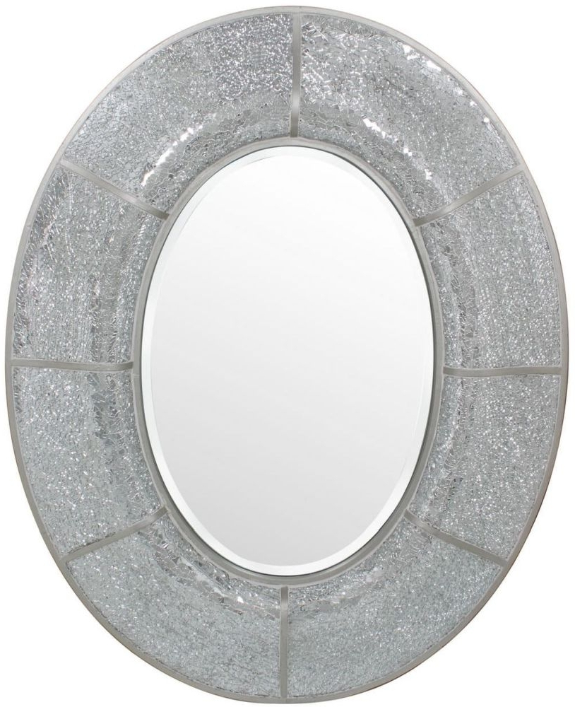 Most Current Silver Oval Wall Mirrors With Regard To Marino Silver Oval Wall Mirror – 80Cm X 100Cm (View 11 of 20)