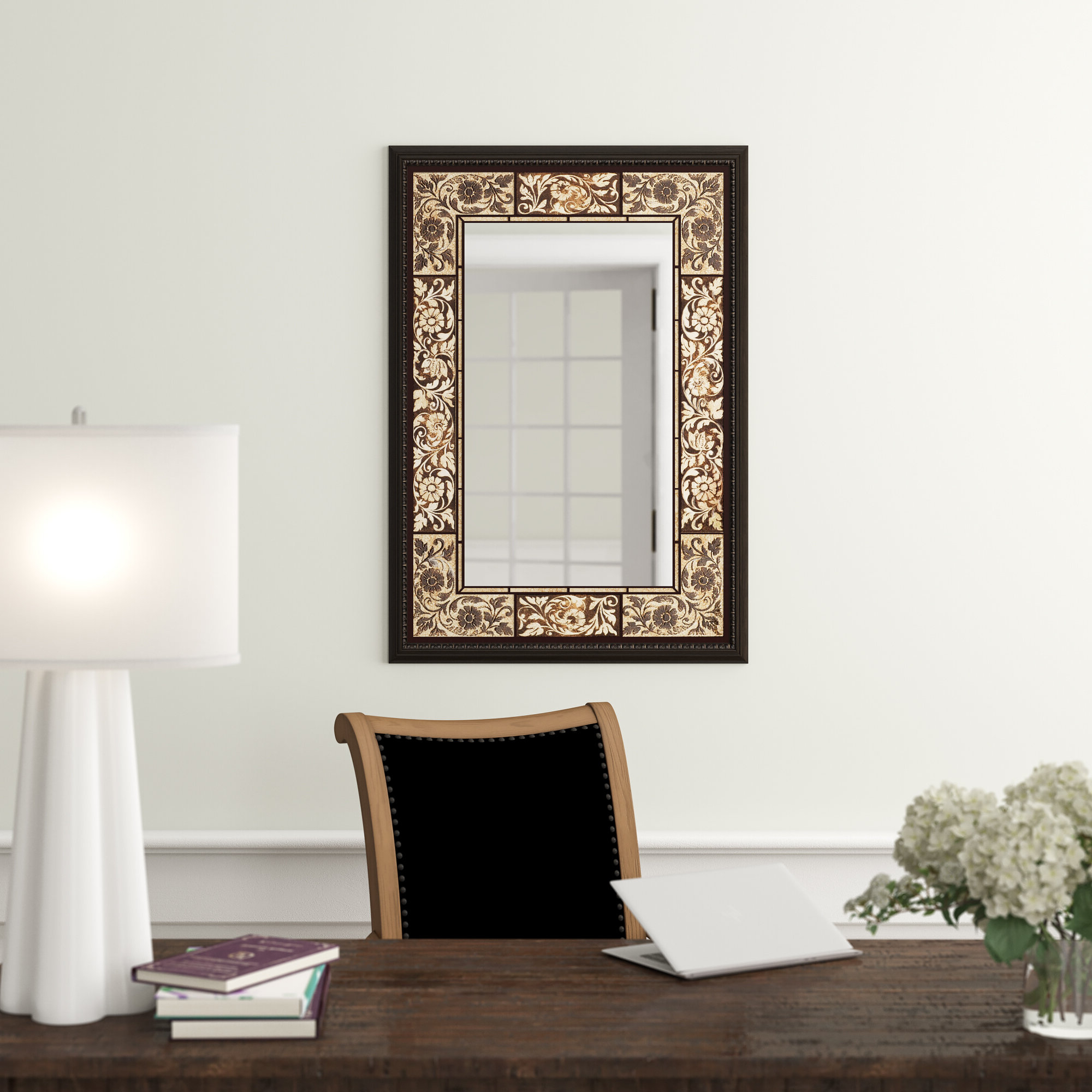 Most Current Stamey Wall Mirrors Within Tile Rectangle Accent Wall Mirror (View 8 of 20)