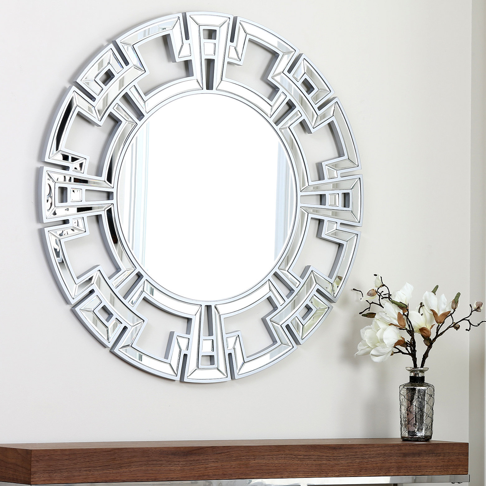 Most Current Tata Openwork Round Wall Mirrors Inside Willa Arlo Interiors Tata Openwork Round Wall Mirror (View 9 of 20)