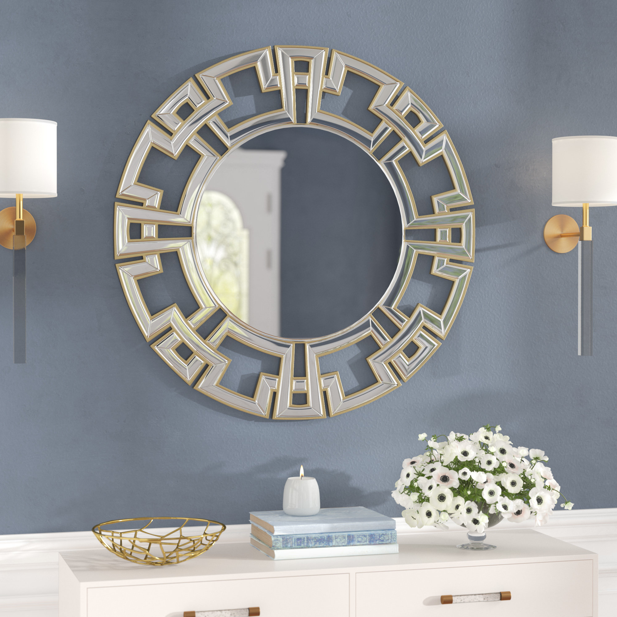 Most Current Tata Openwork Round Wall Mirrors Throughout Tata Openwork Round Wall Mirror (View 5 of 20)